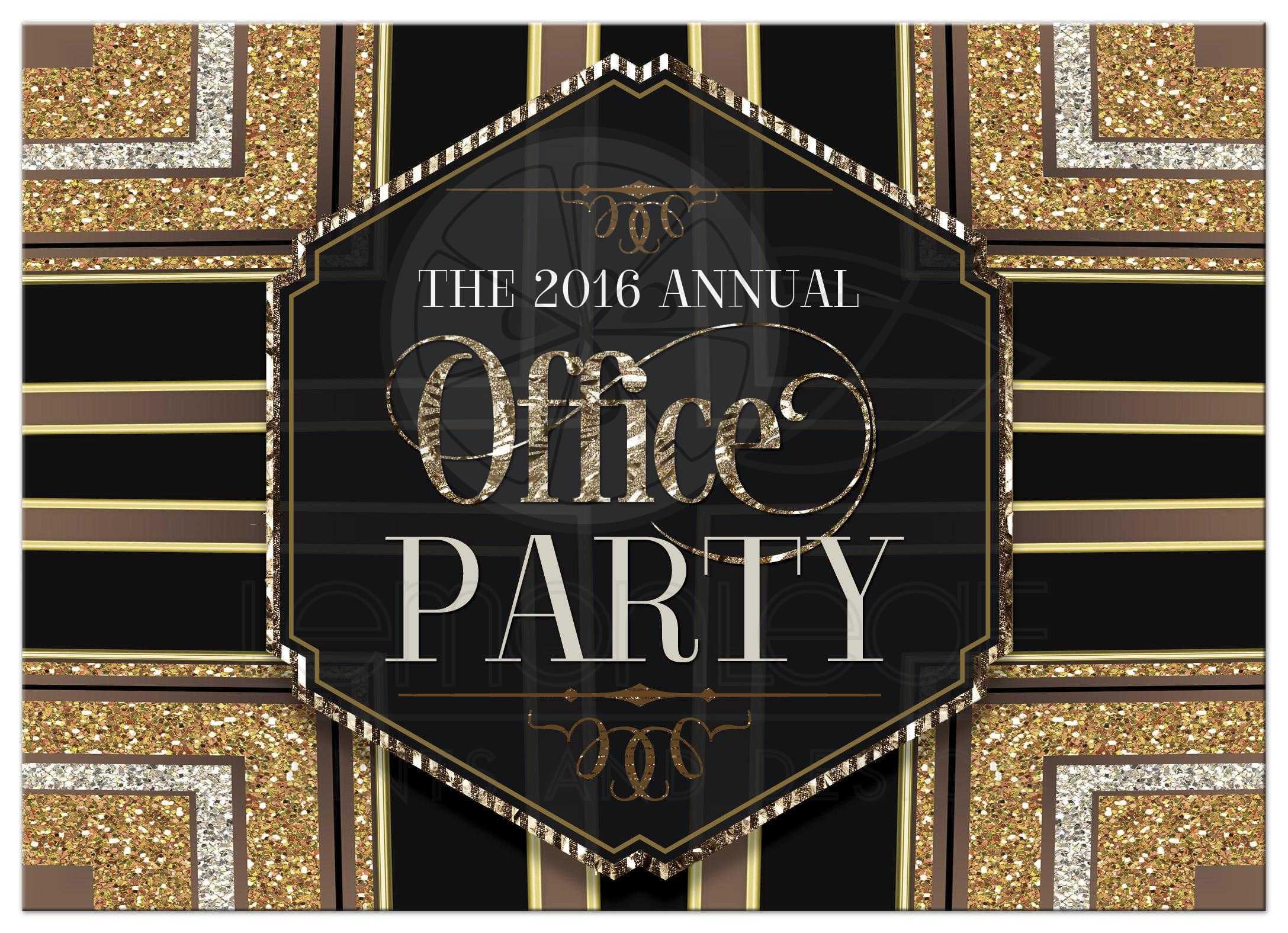 glitterati art deco office party invitation stylish glam office party invitation