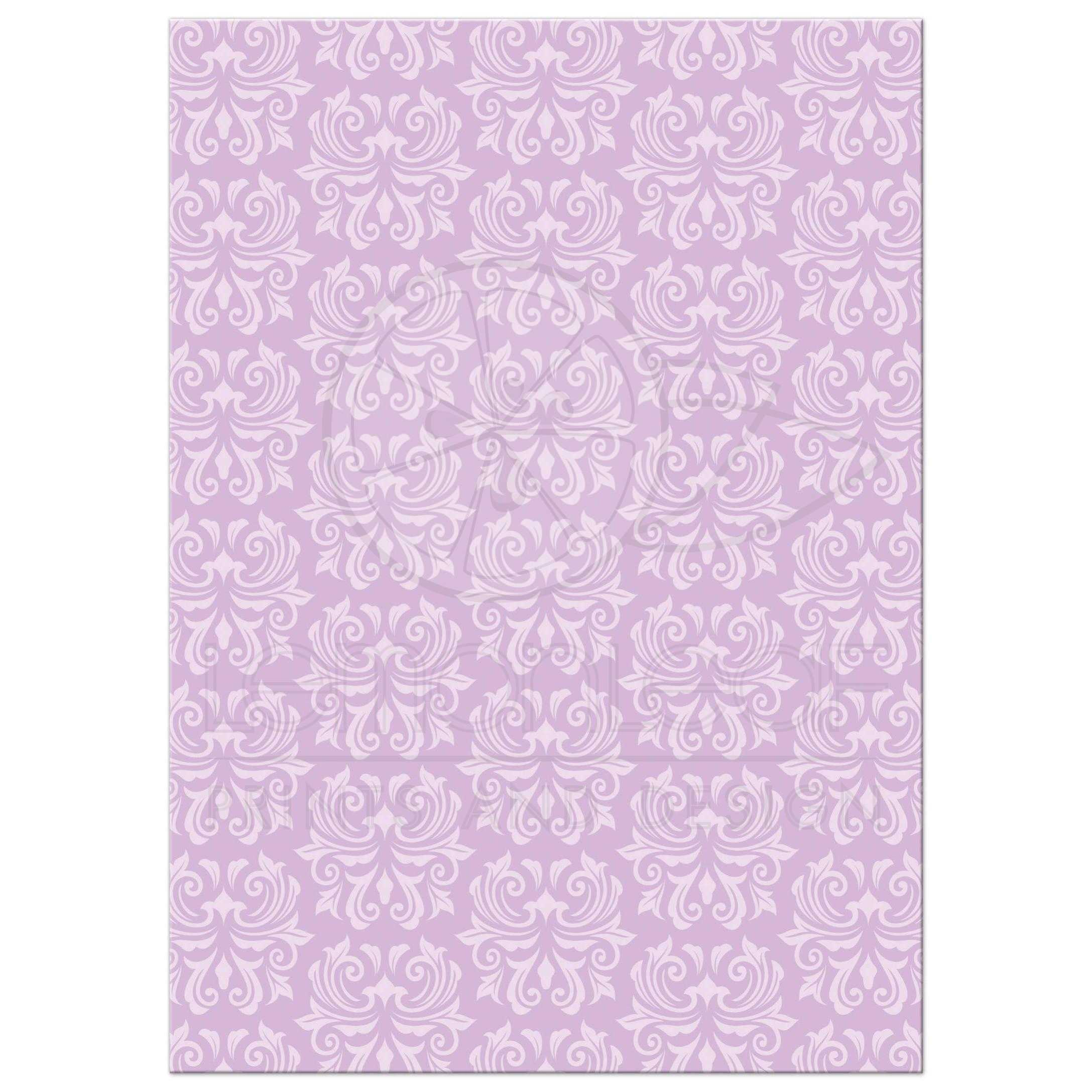 Ornate Purple Damask First Holy Communion Or Confirmation