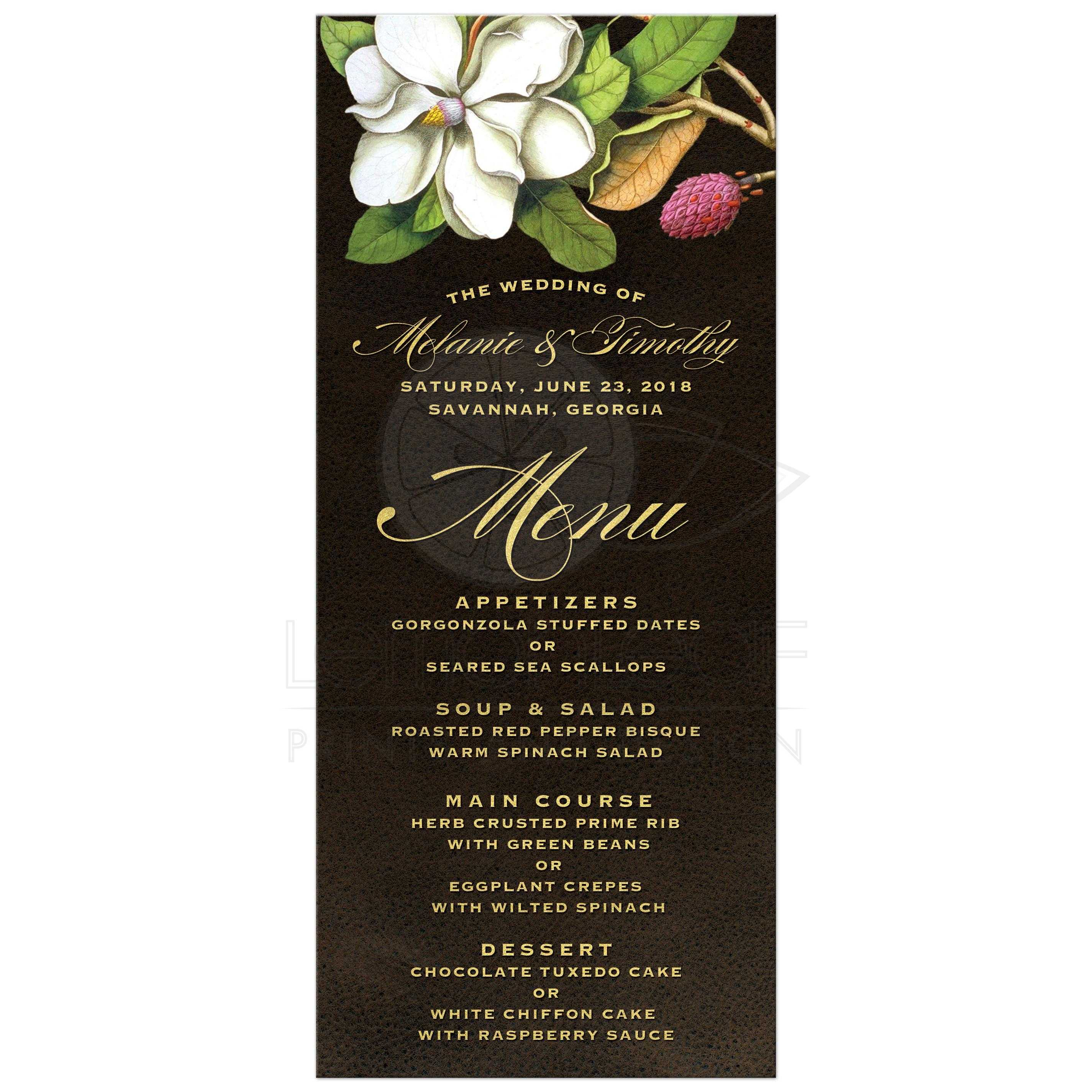 Southern Wedding Reception Food: Elegant Vintage Southern Magnolia