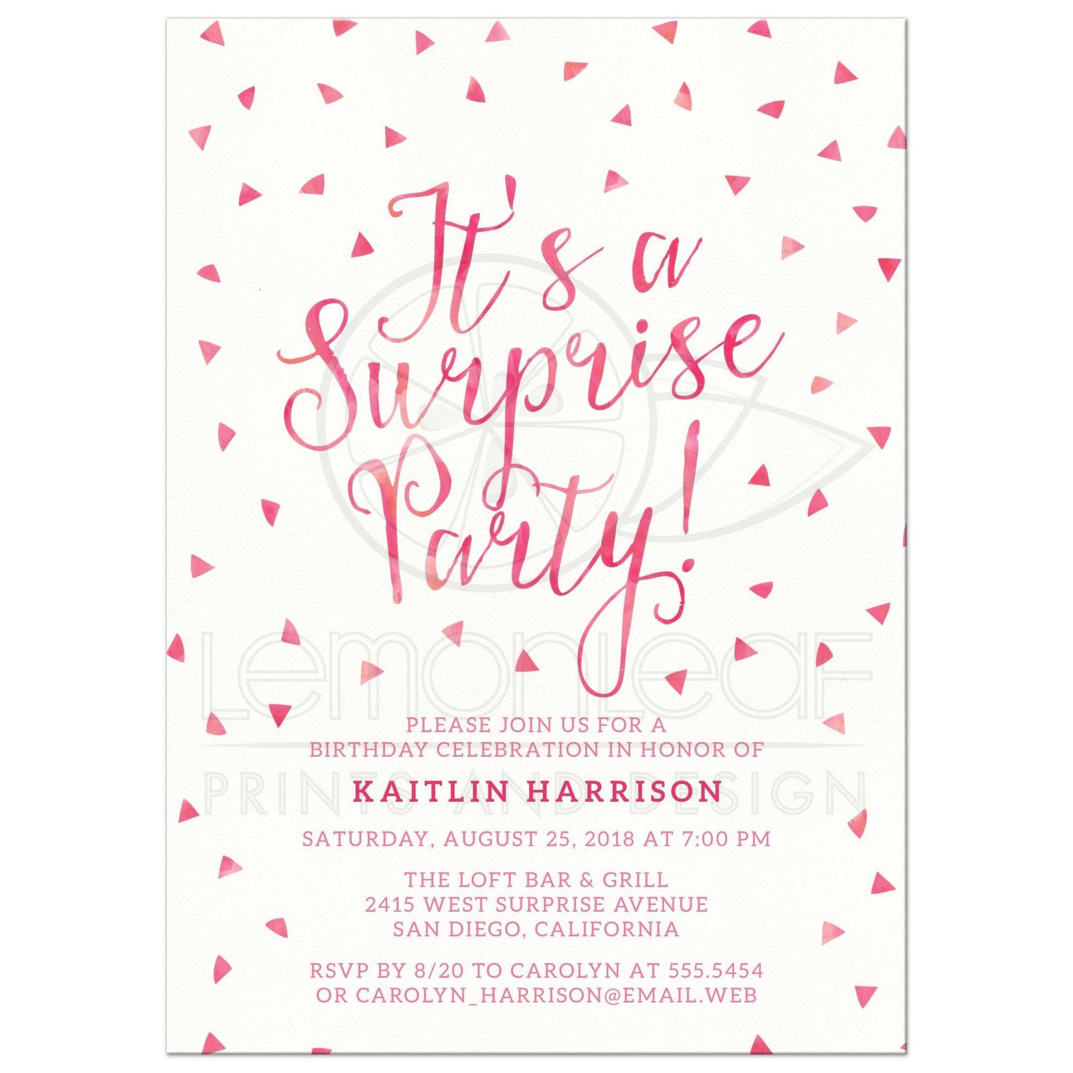 surprise party invites Hallo – Suprise Party Invitation