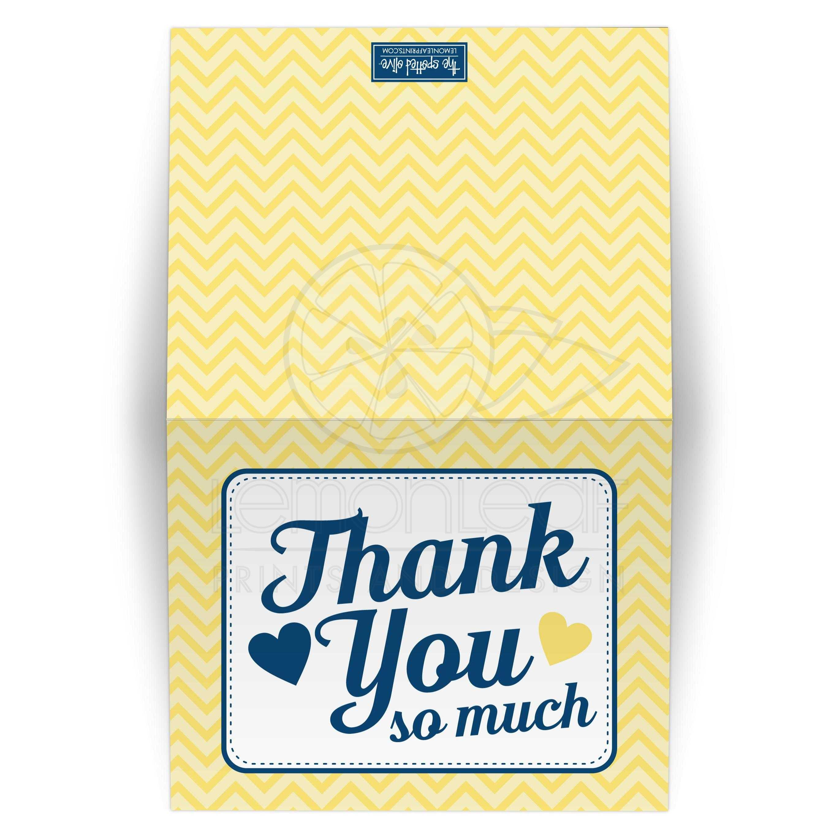 Baby Shower Thank You Cards Gender Neutral Yellow Chevron