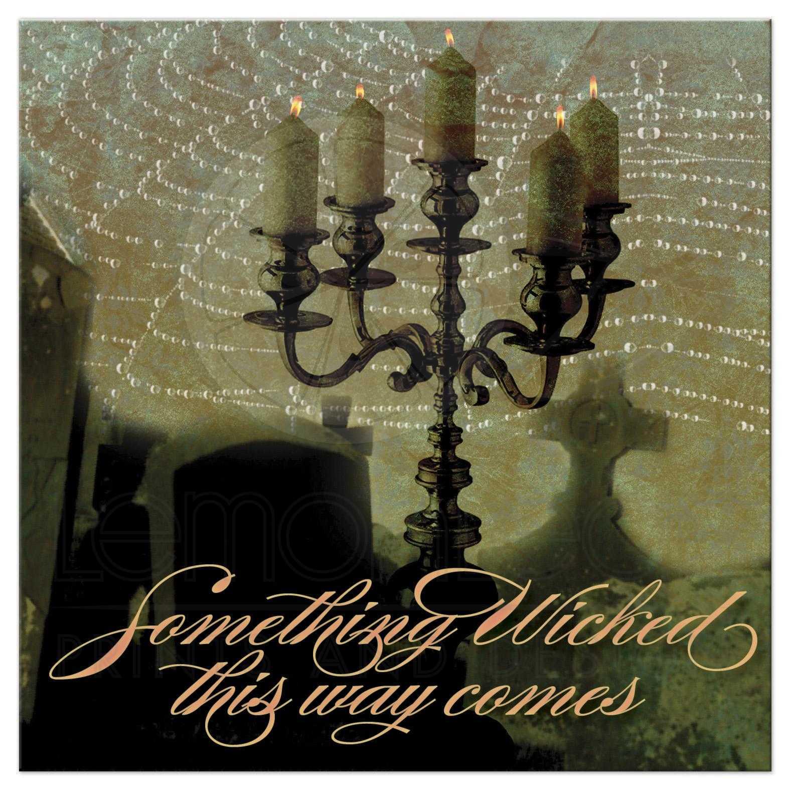 Gothic halloween special event invitation dark art spiderweb candelabra invite kristyandbryce Images