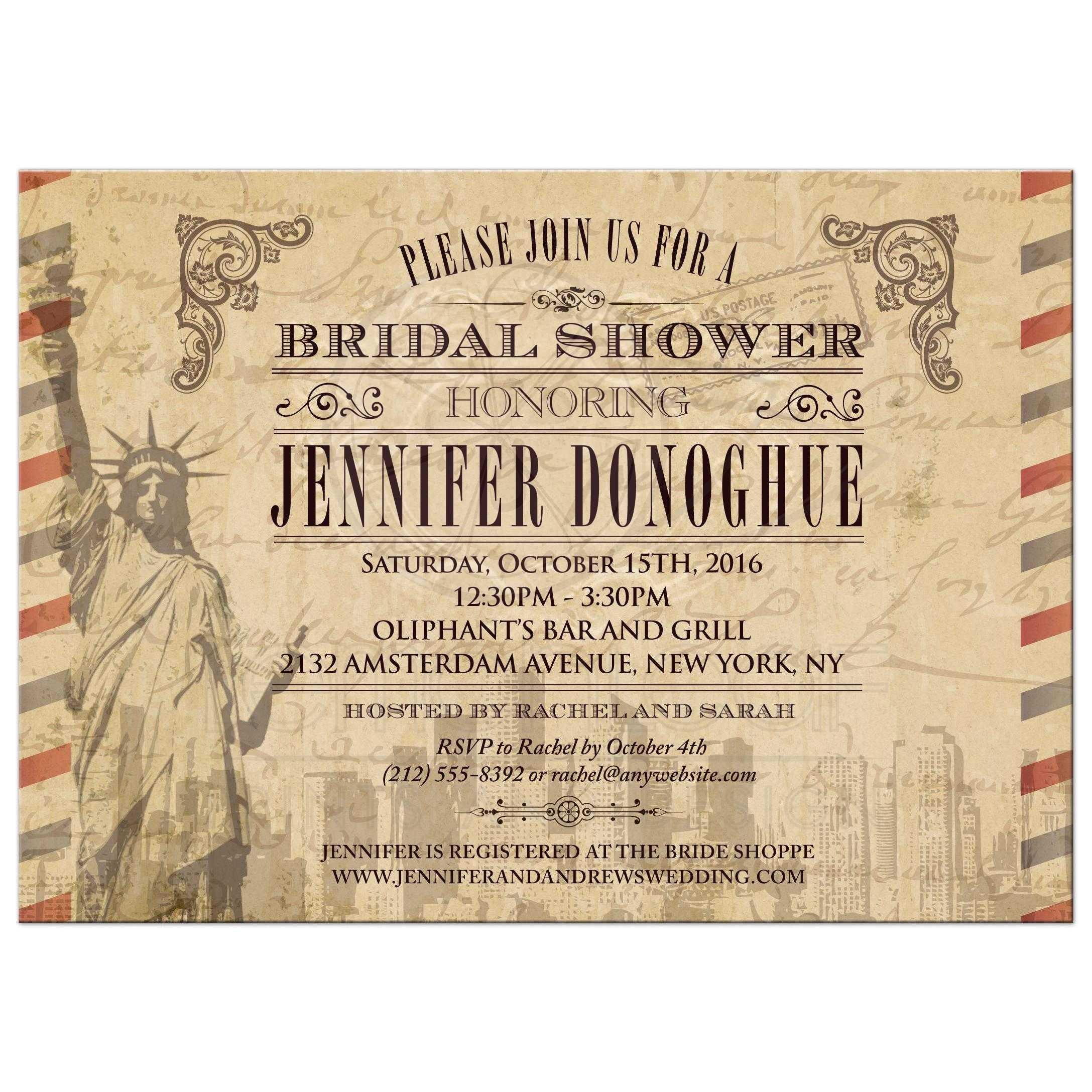 Vintage New York City Airmail