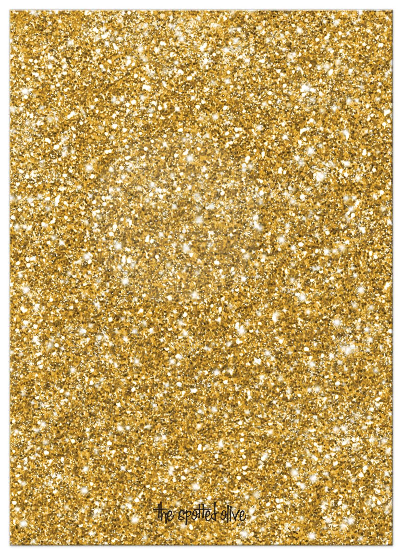 50th Wedding Anniversary Party Invitations Gold Sparkle