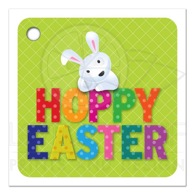 Easter favor tag cute hoppy easter bunny easter gift tag cute hoppy easter bunny negle Image collections
