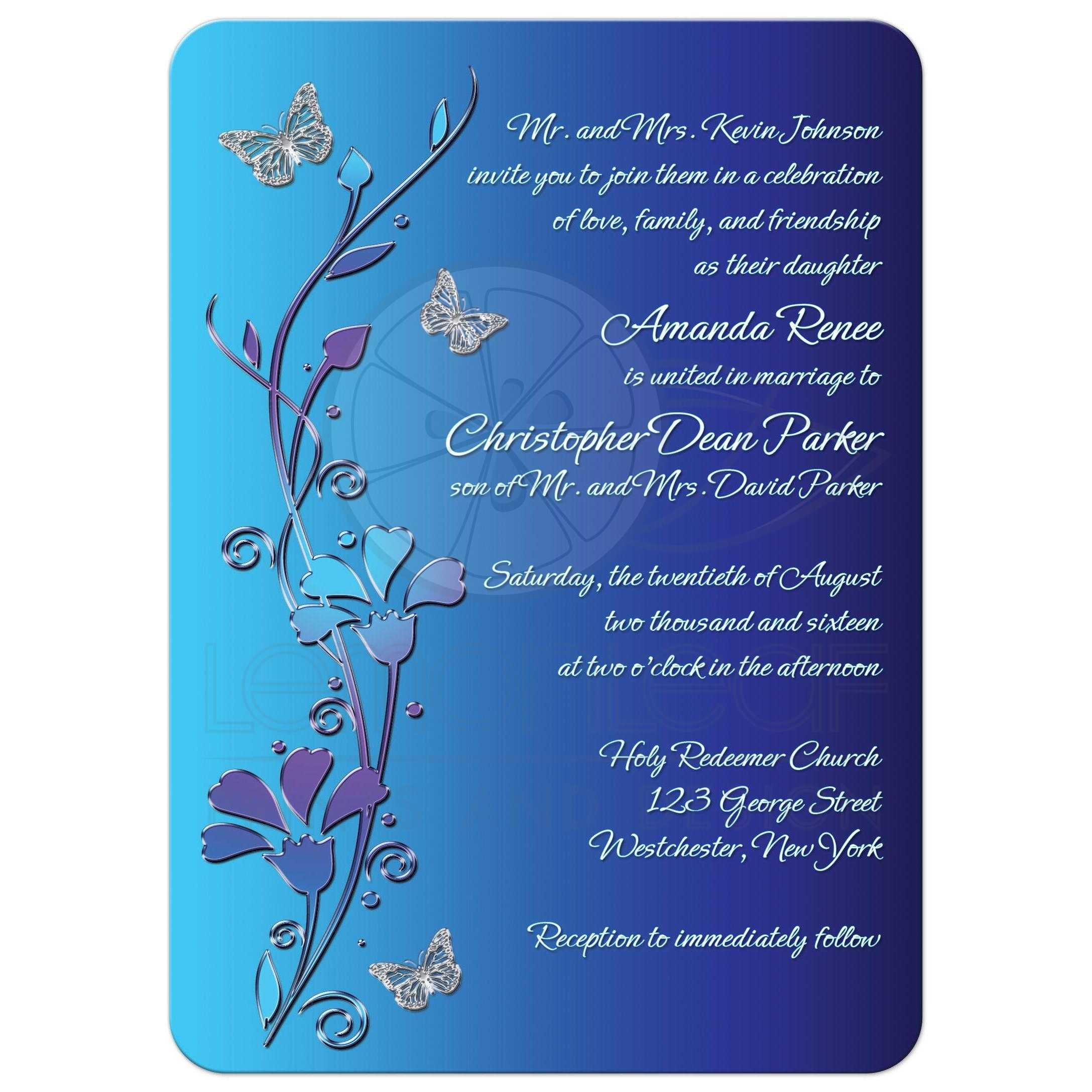 Wedding Butterfly Invitations for perfect invitations layout