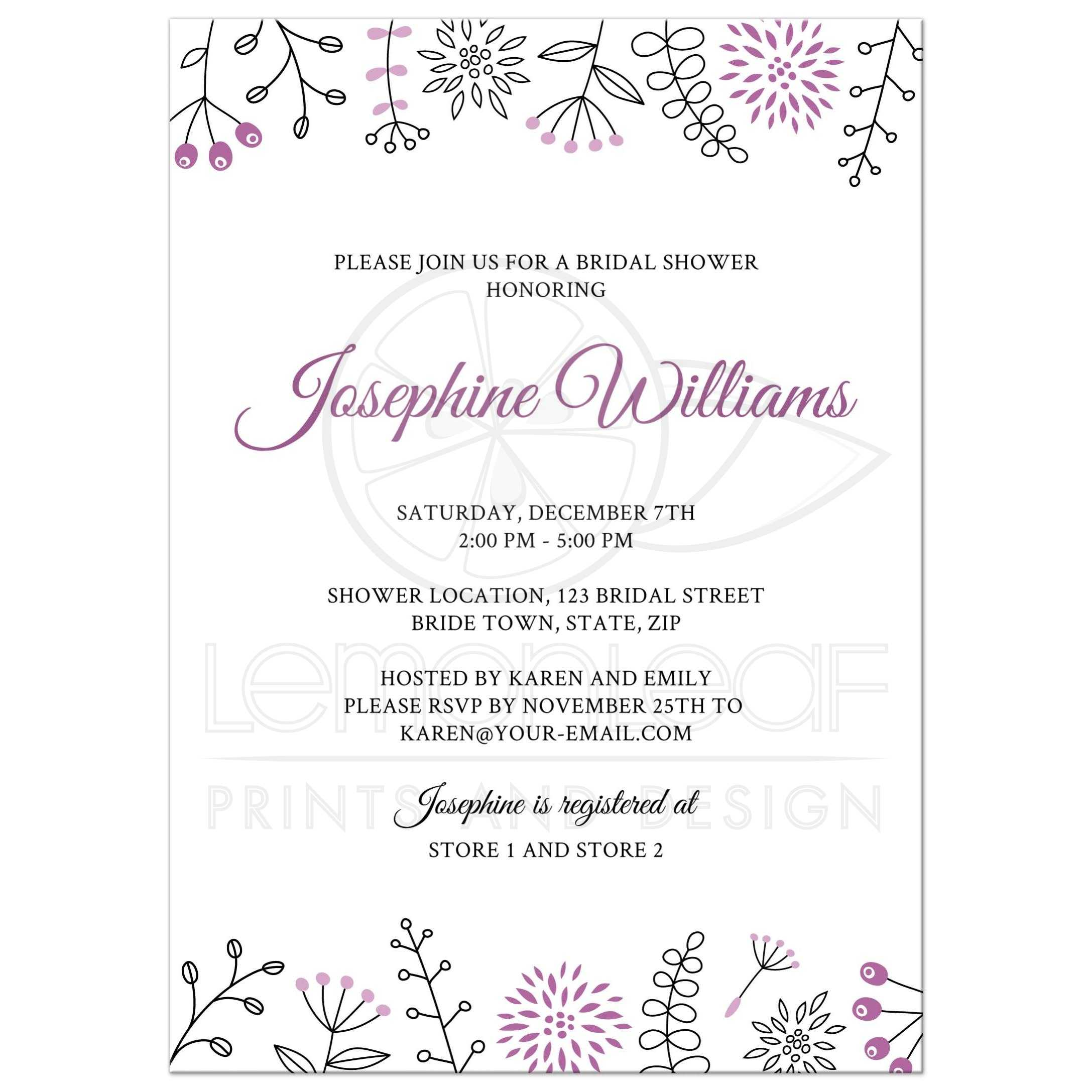 invitations wedding elegant party after shower new wording tea invitation of bridal for