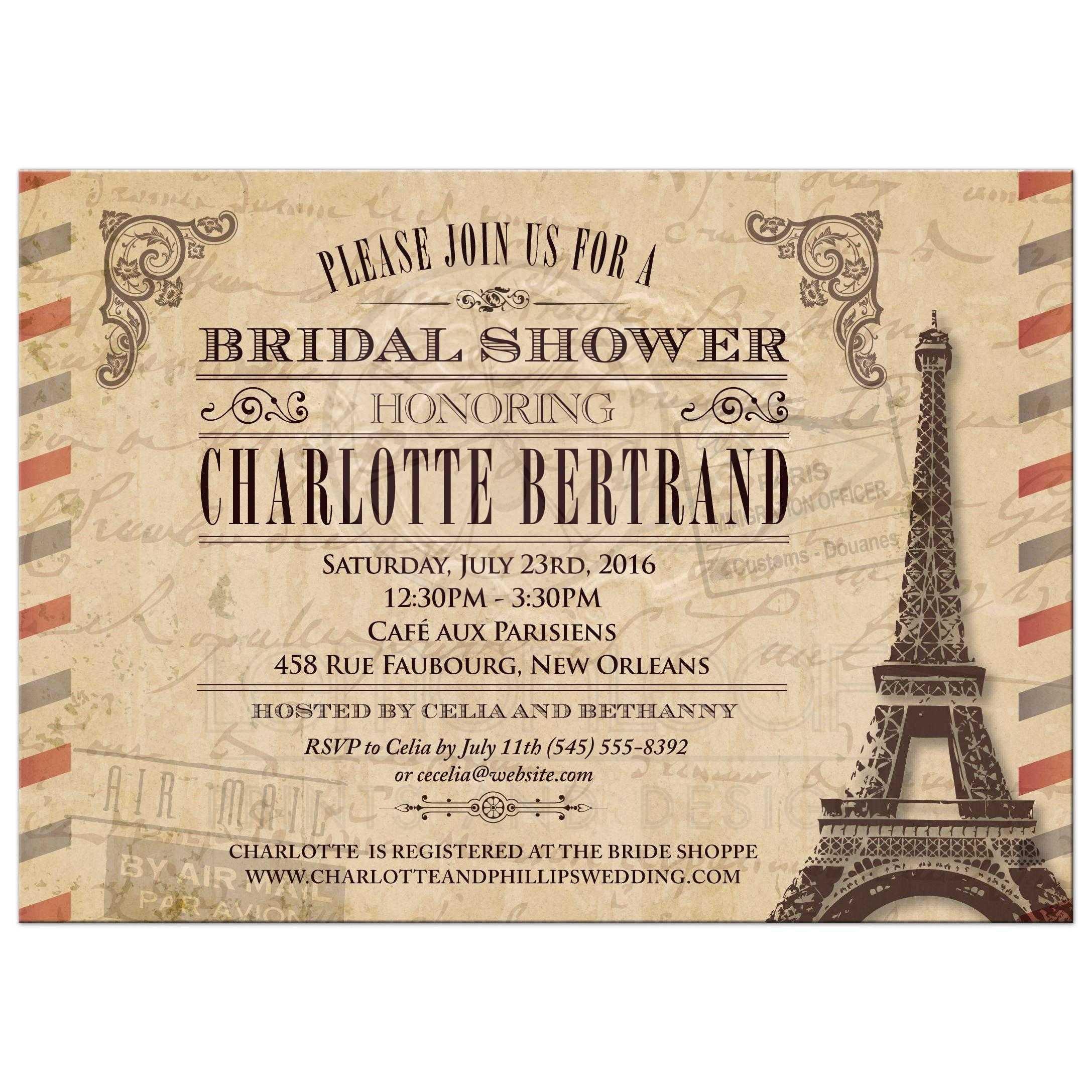 Bridal Wedding Shower Invitation
