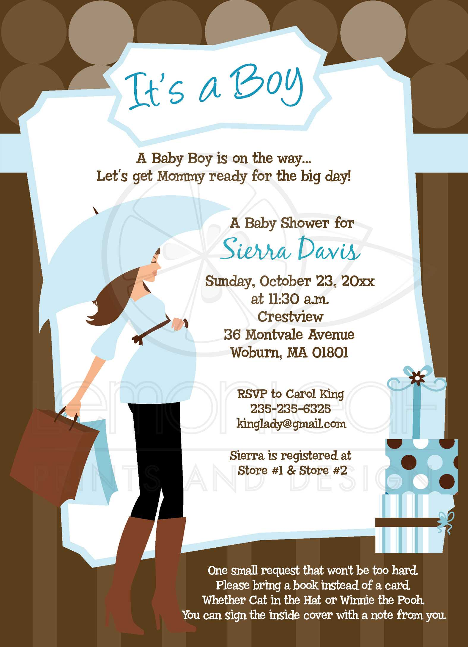 Modern mom trendy boy baby shower invitation filmwisefo Choice Image