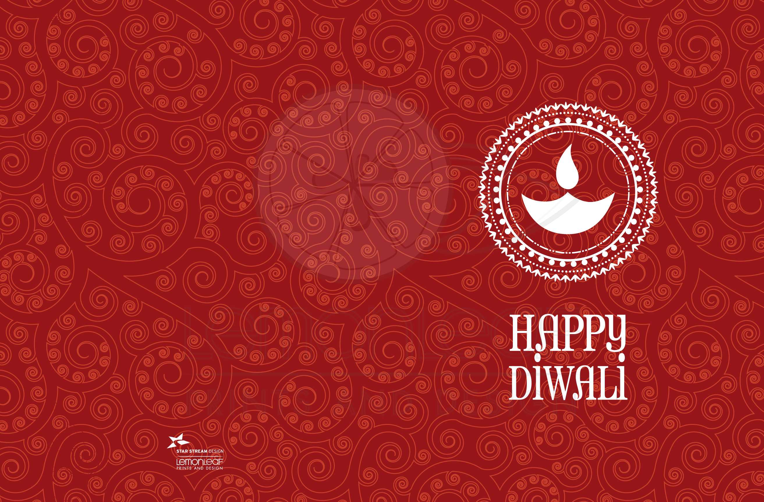 Diwali greeting card red paisley happy diwali lamp kristyandbryce Image collections