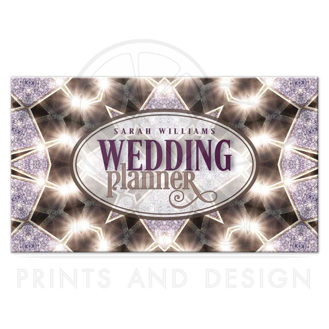 Purple Sparkle Wedding Planner Business Card