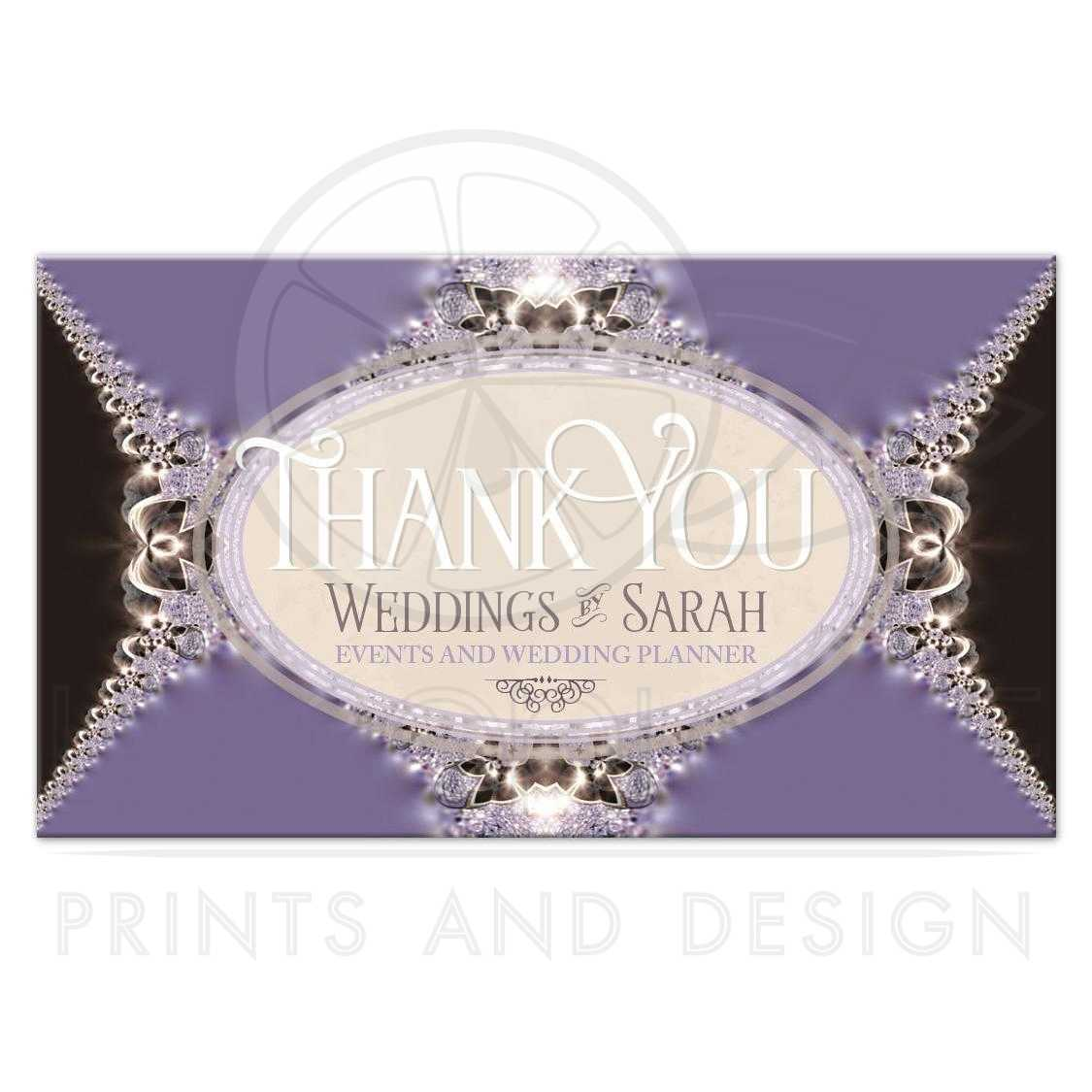 Satin & Lace Thank You Business Cards