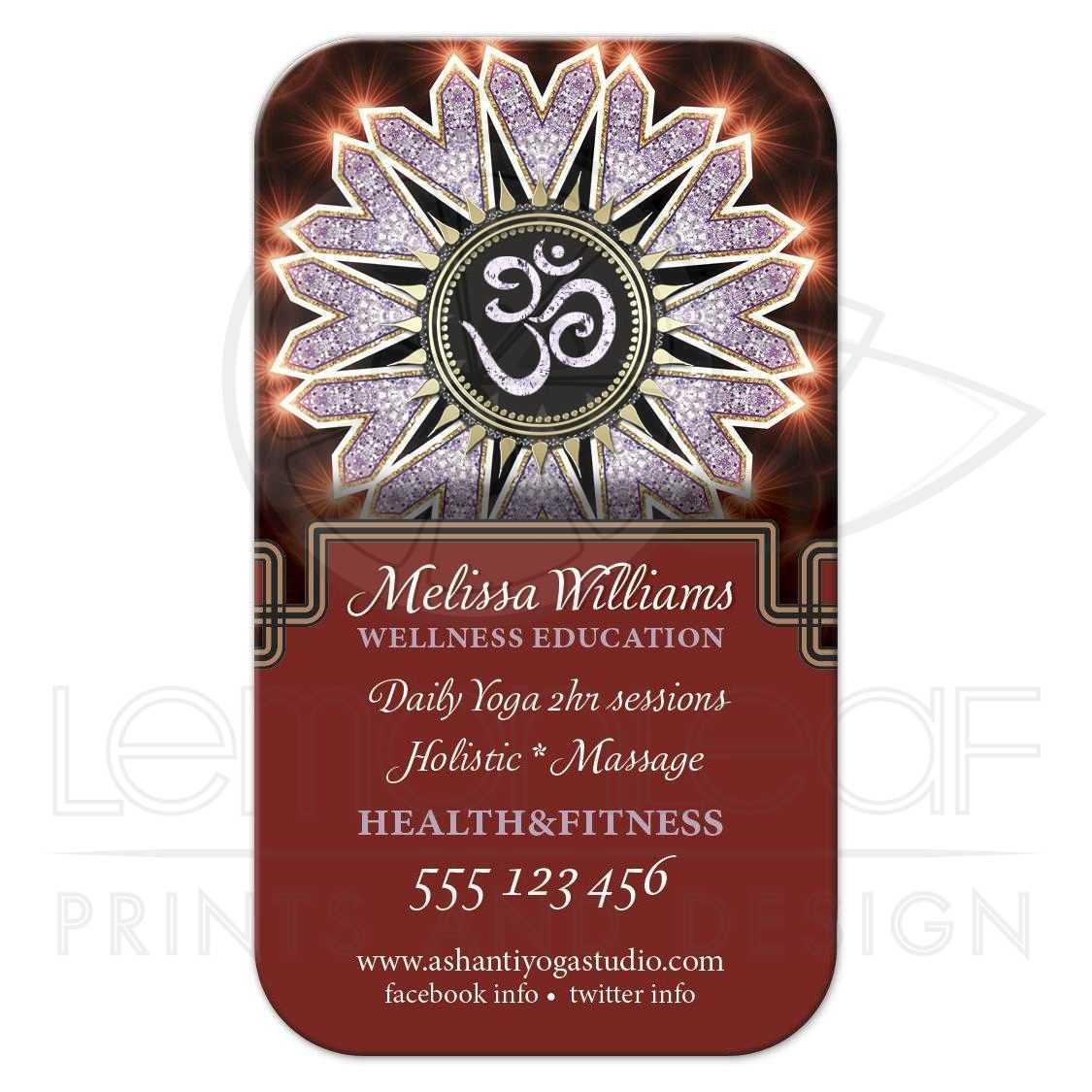 Sparkle OM Yoga Business Card