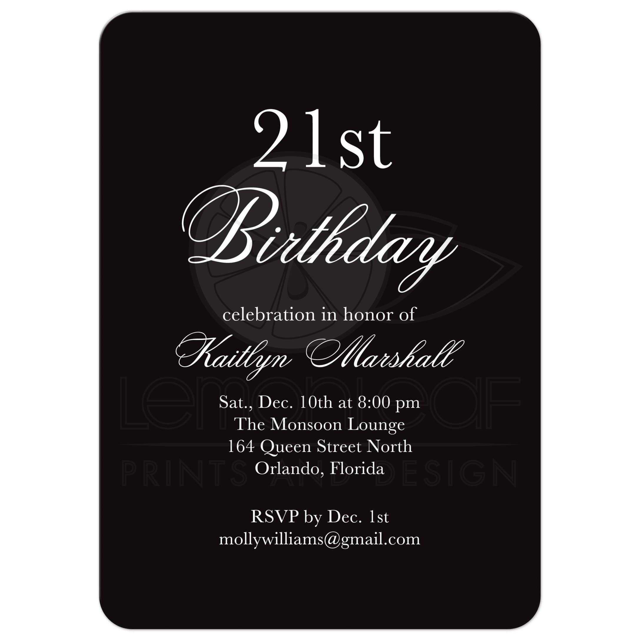 Birthday invitation black white time to drink champagne and black and white birthday invitation filmwisefo