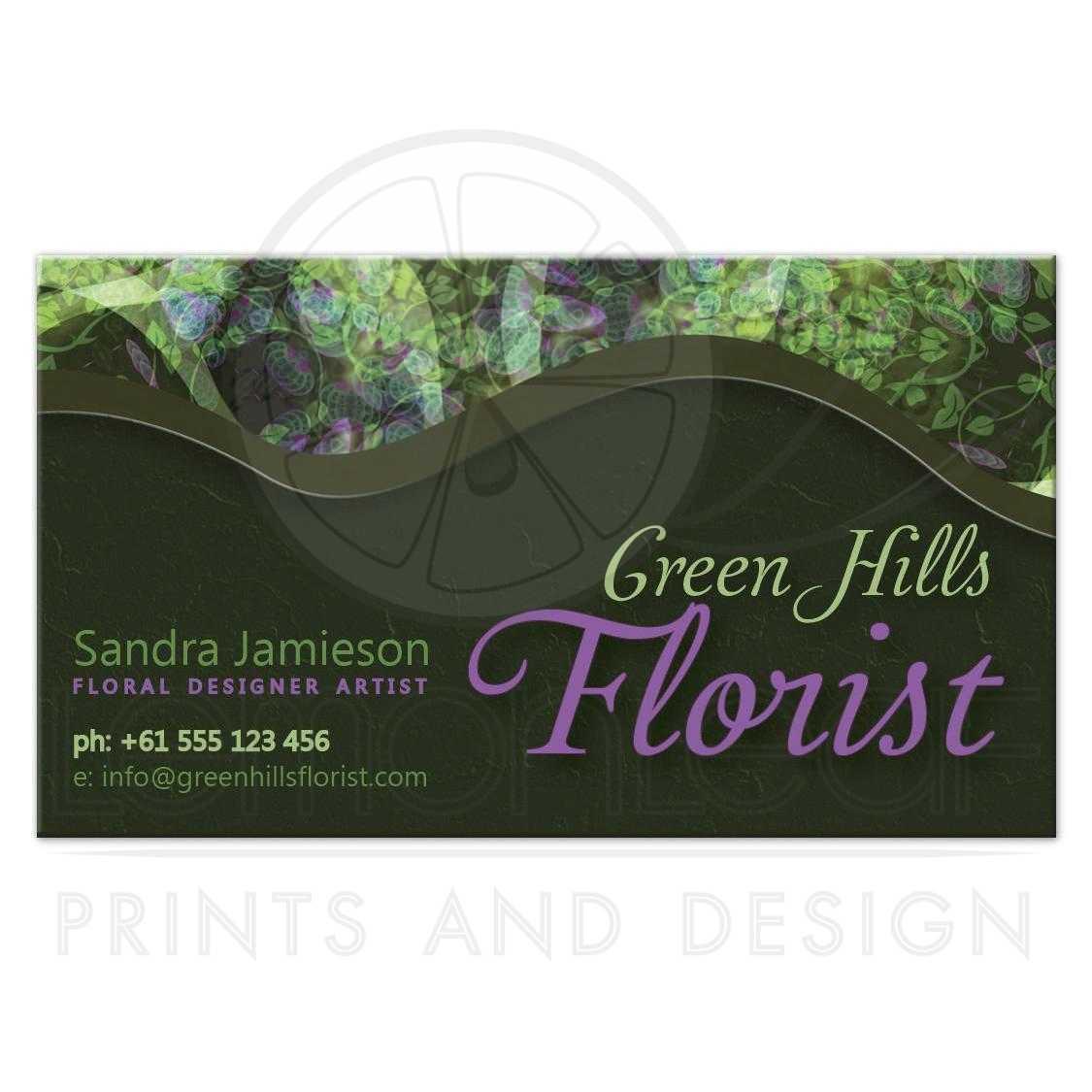 Green Hills Florist Business Card