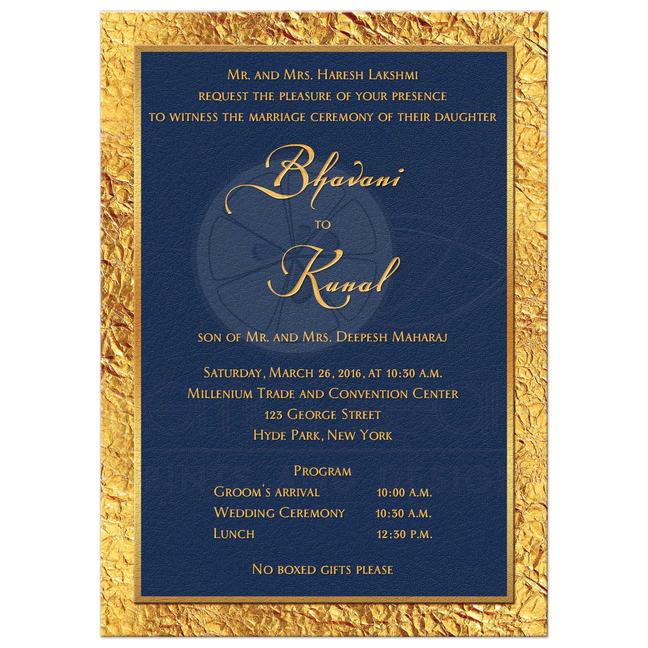 Wedding Invitation | Watercolor | Gold Flourish | Faux Gold Foil ...