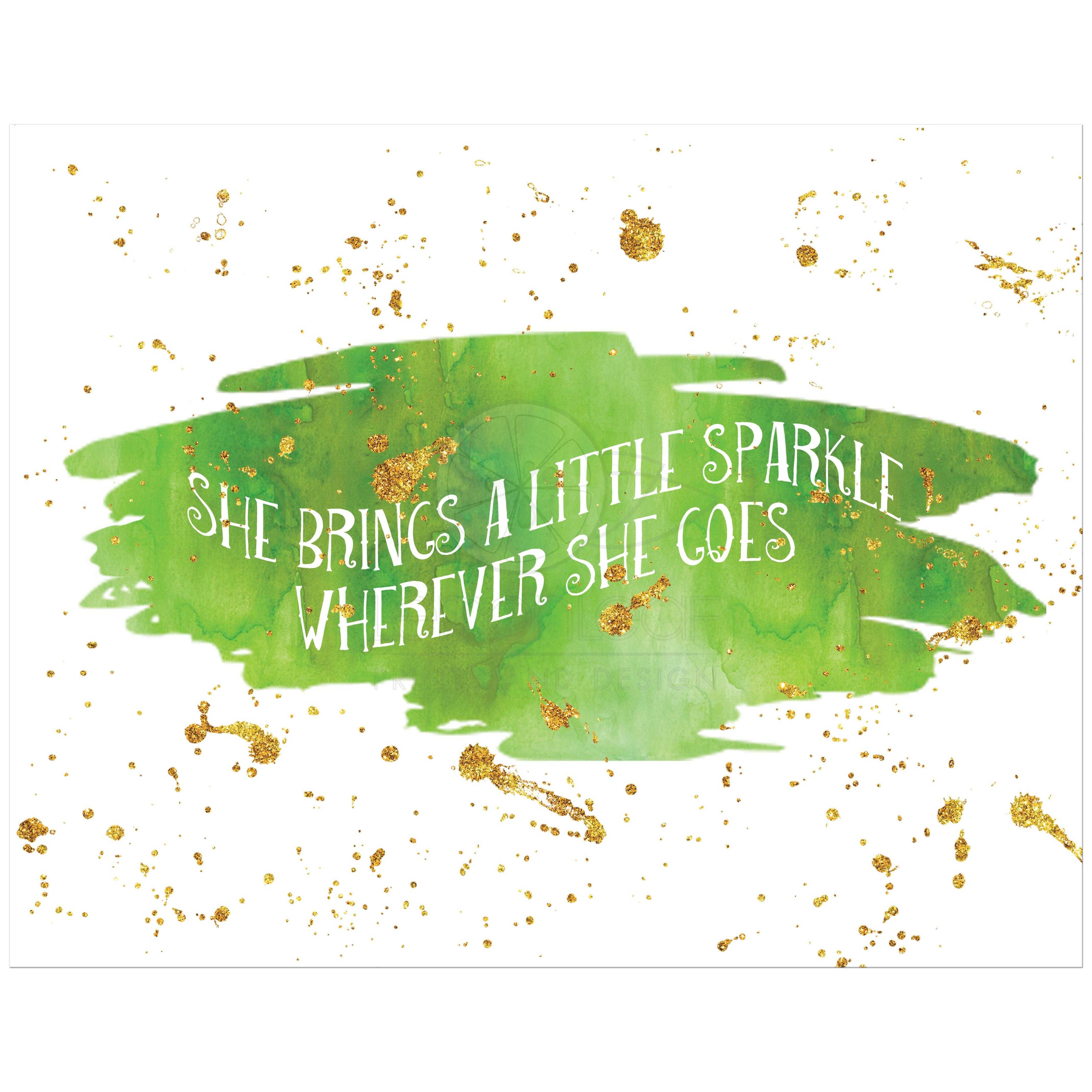 picture relating to She Leaves a Little Sparkle Wherever She Goes Free Printable known as 11\