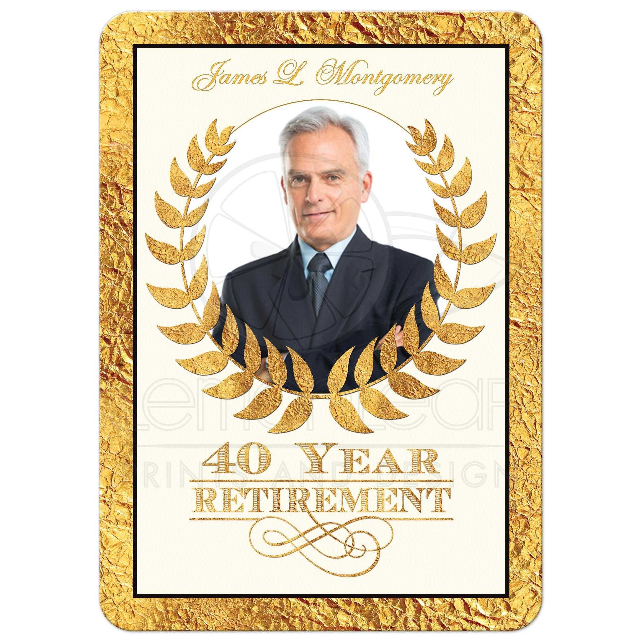 40 year retirement party invitation