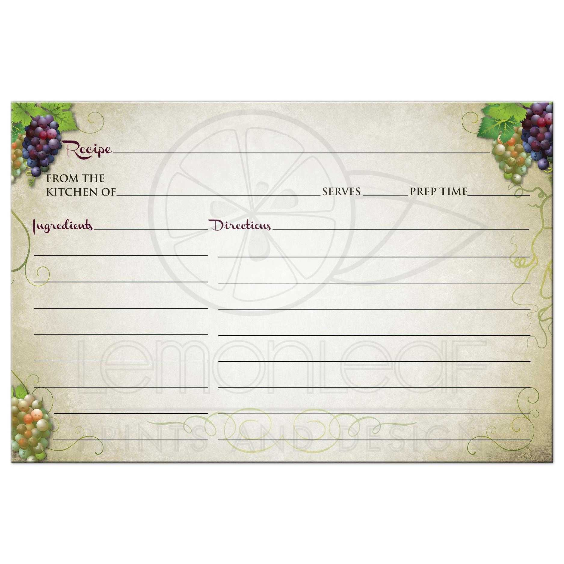 where to find recipe cards