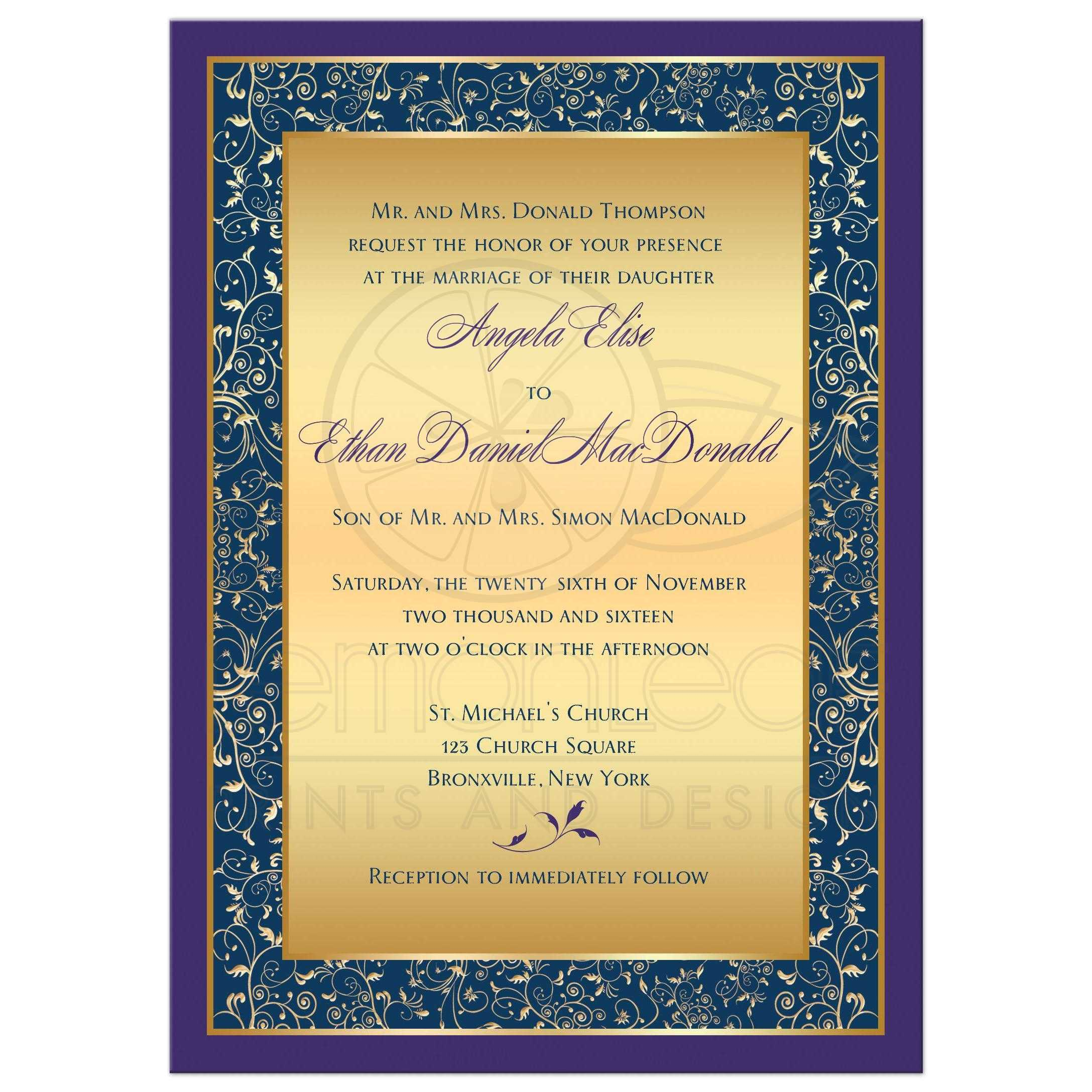 Gold And Purple Wedding Invitations: Purple, Teal, Gold