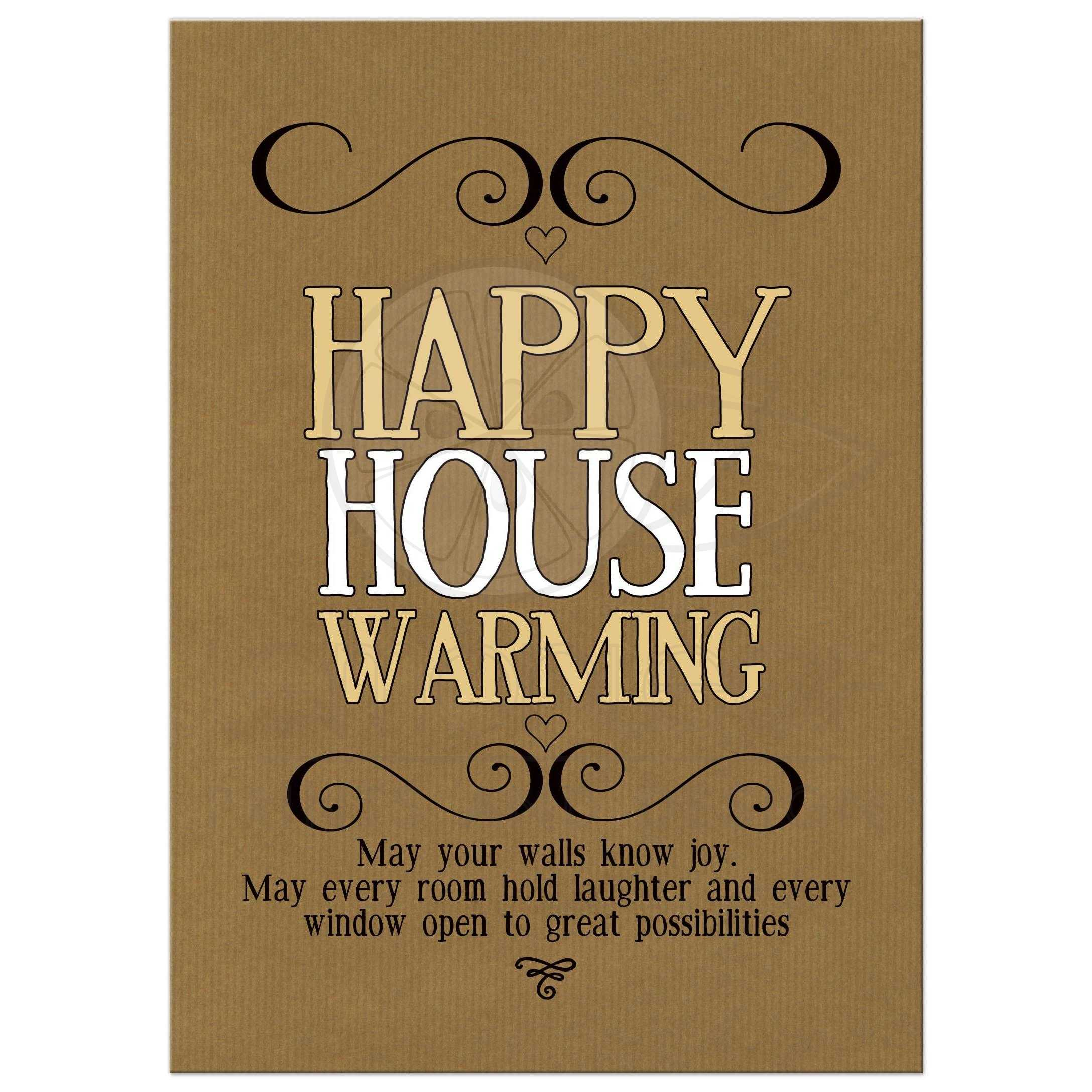 Happy housewarming wishes card hipster house warming m4hsunfo