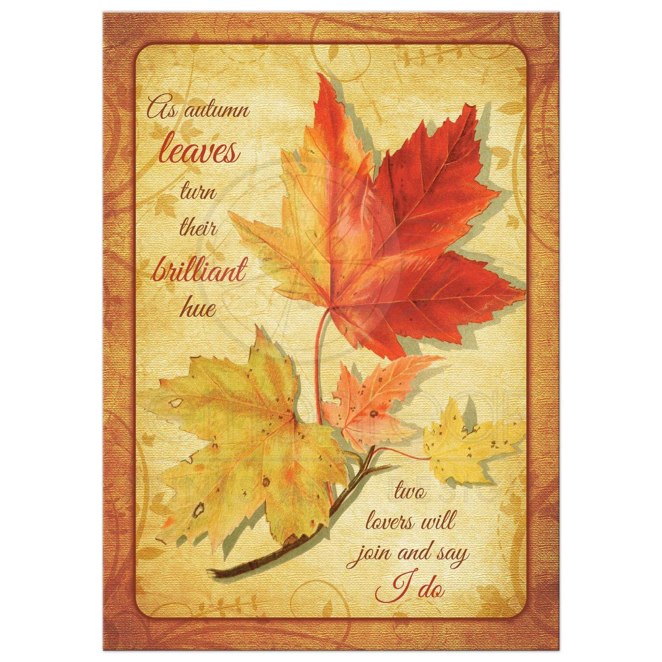 Autumn Leaves String Lights Rustic Fall Wedding Invitation ... |Fall Leaves Wedding Invitations