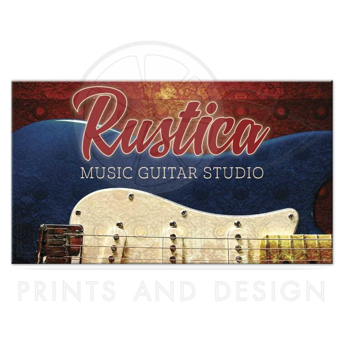 Blue electric guitar music business card red blue electric guitar music business card magicingreecefo Image collections