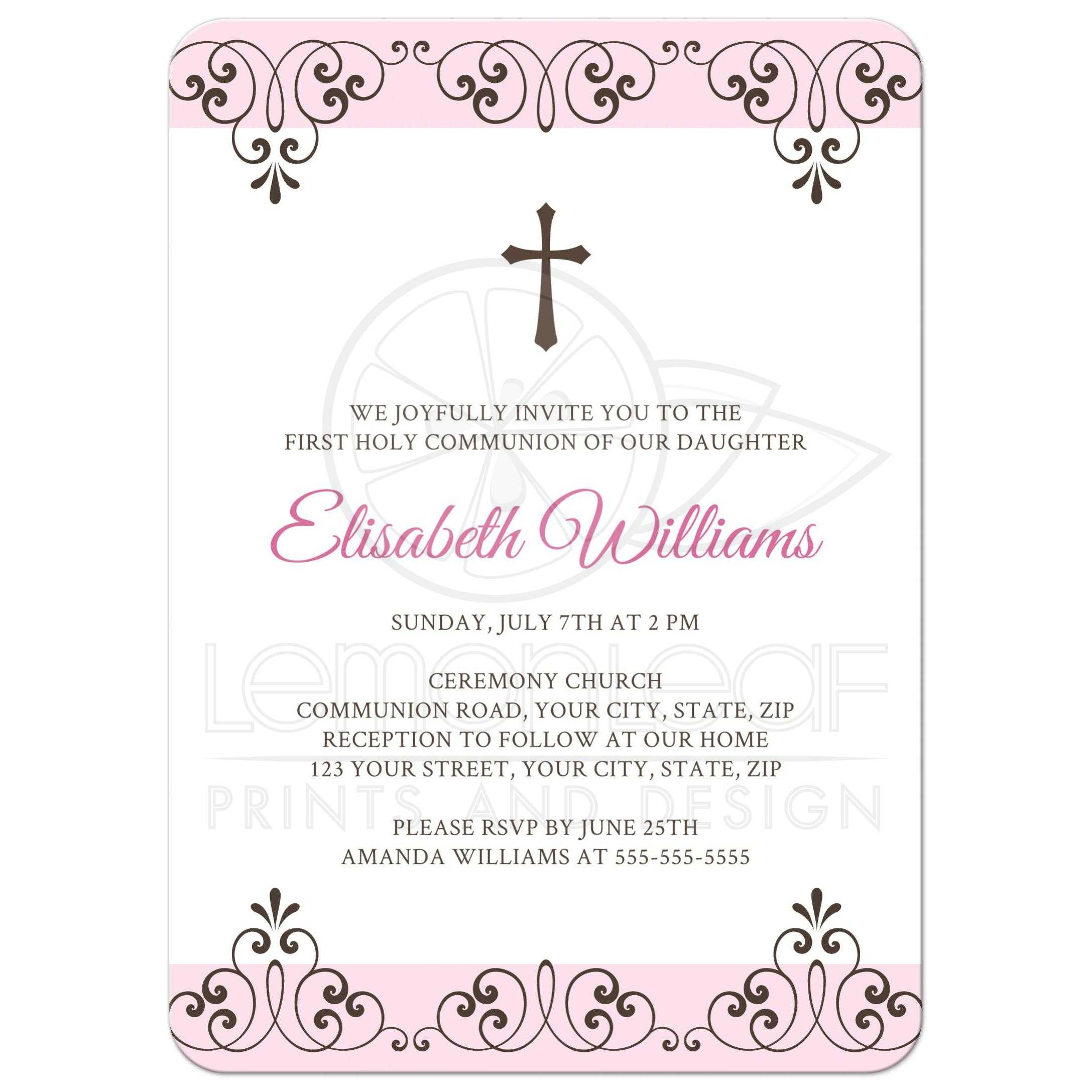 Lace Baptism Invitations with adorable invitations design
