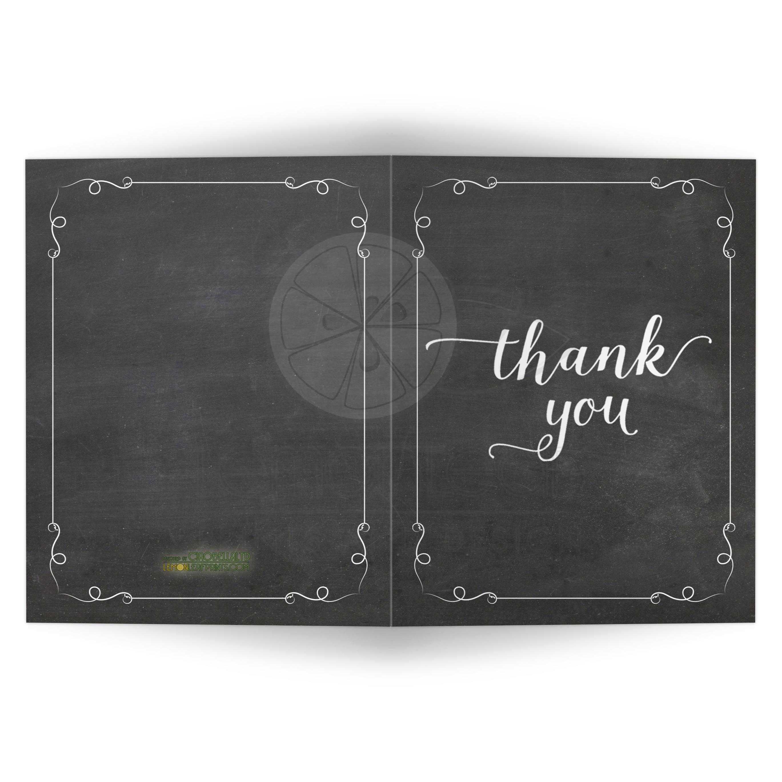 Trendy White Chalkboard Typography Thank You Card on thank you clean kitchen, thank you cards kitchen, thank you for email background, new wallpaper for kitchen, thank you background wallpaper,