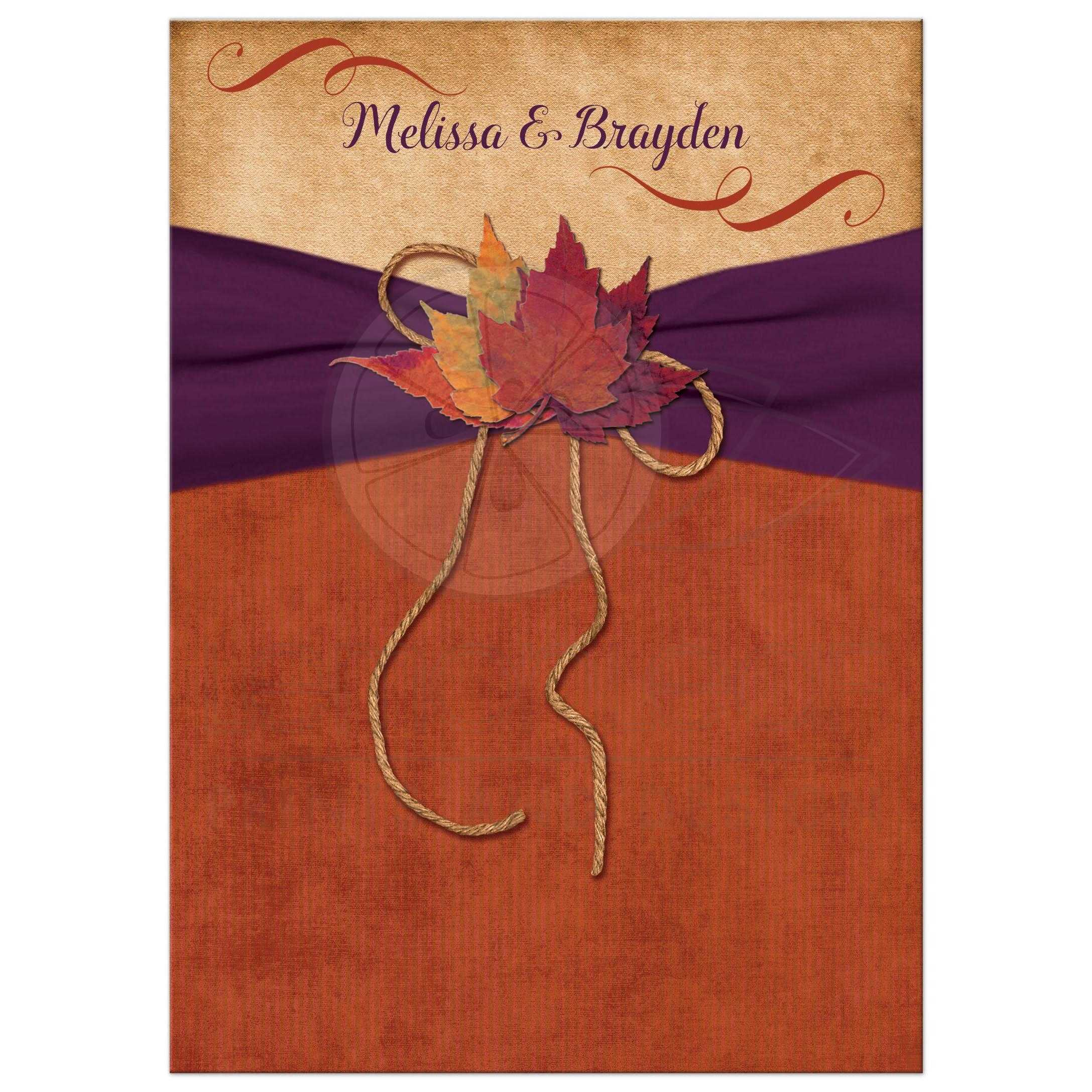 Magnificent Burnt Orange Wedding Invitations Festooning Resume