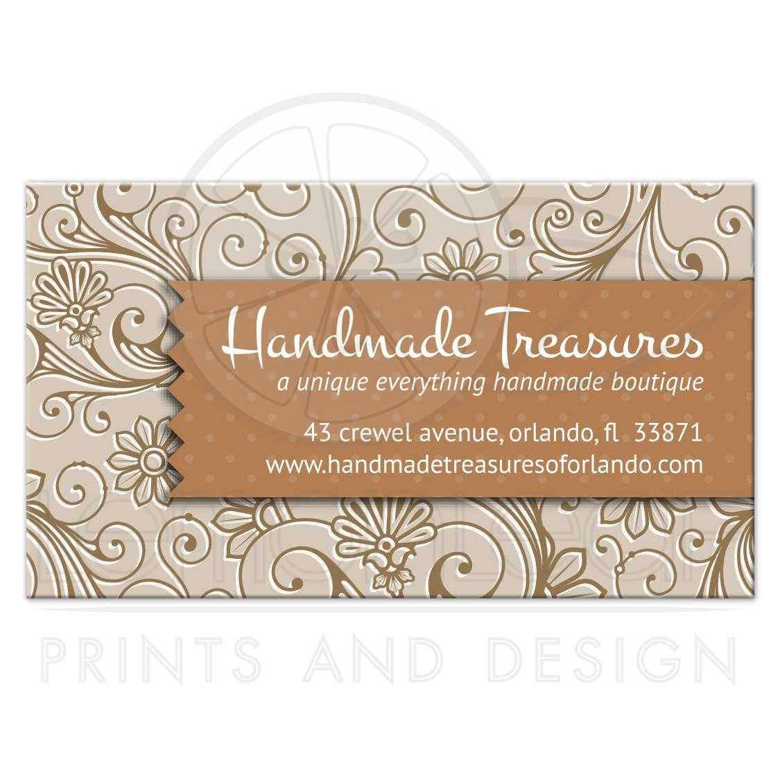 Card - Crafters Handmade Floral Damask