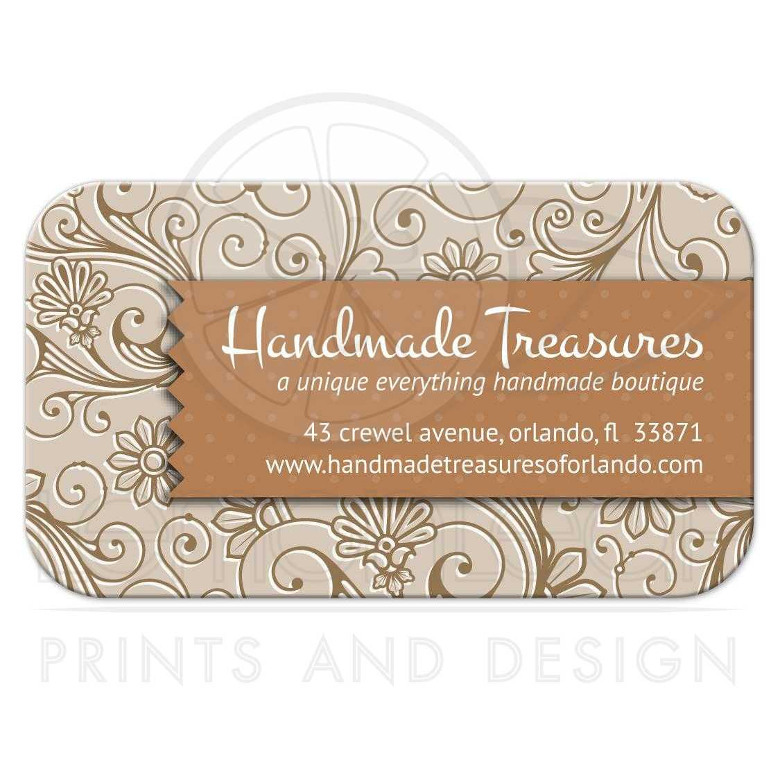 Card crafters handmade floral damask business card crafters handmade floral damask thecheapjerseys Images