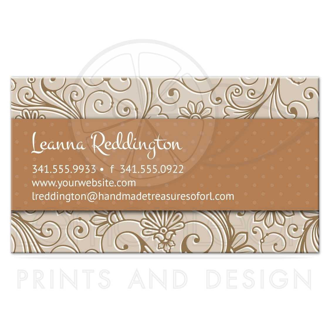 Business card crafters handmade floral damask colourmoves