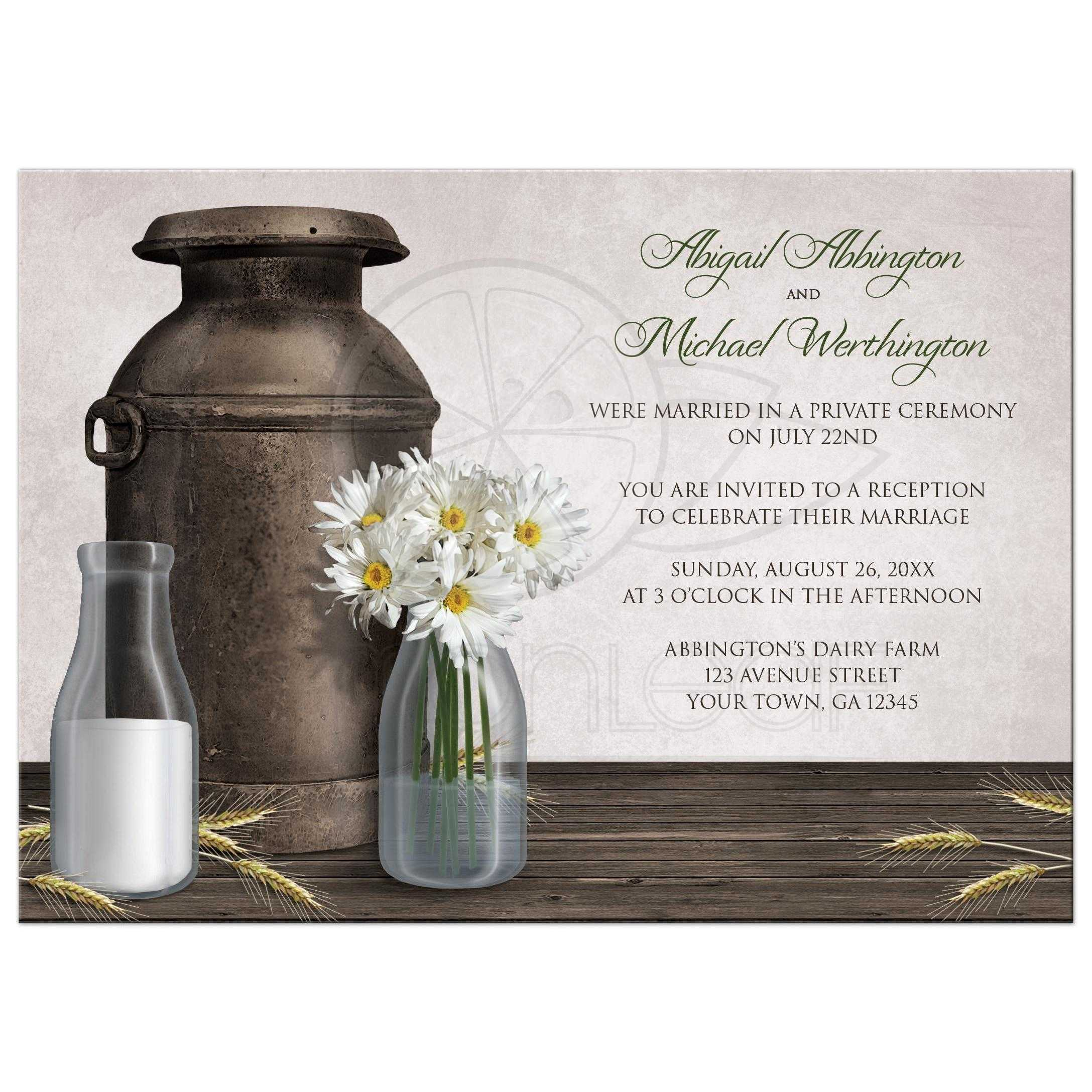 Only Invitations Rustic Country Dairy Farm