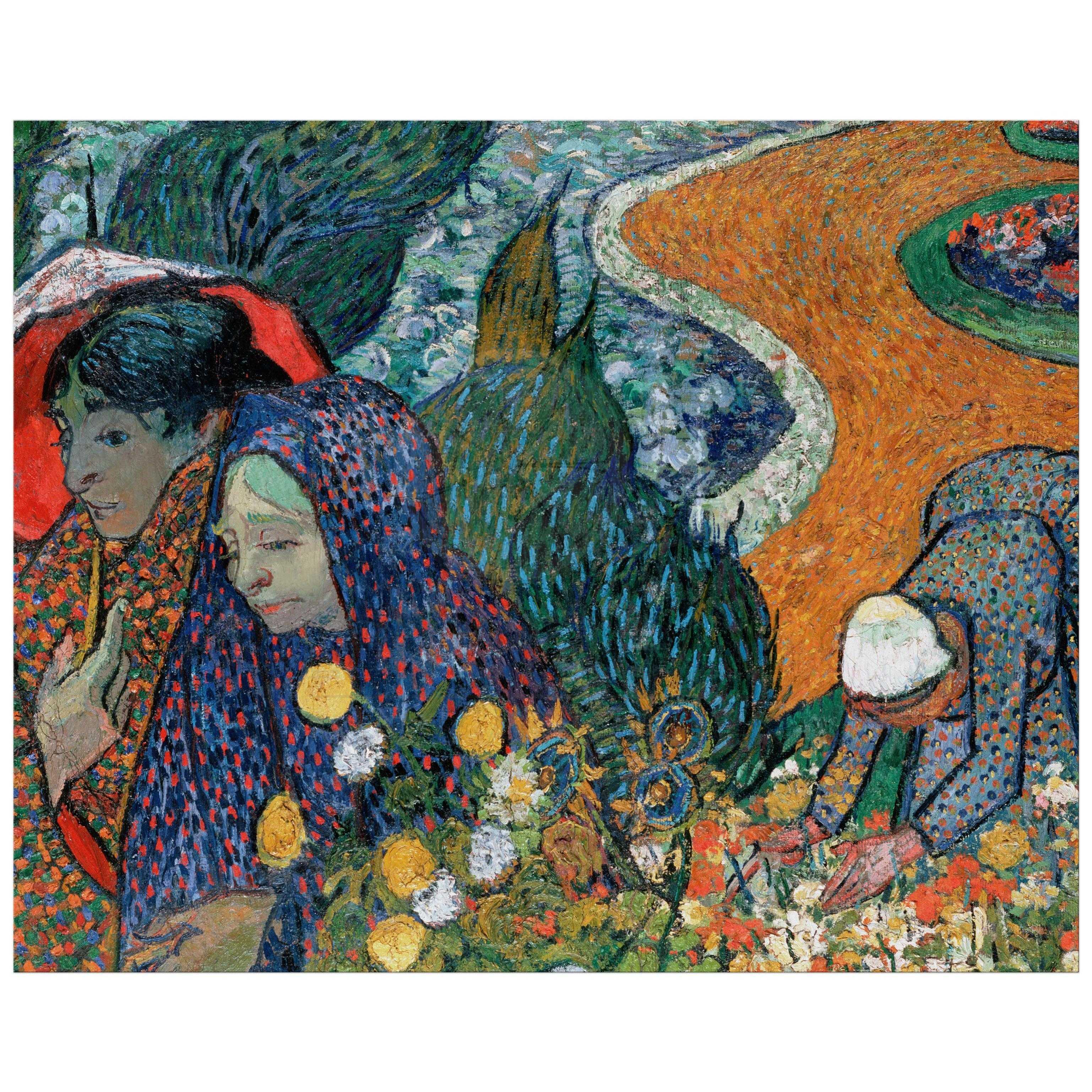 sc 1 st  Lemon Leaf Prints & 8x10 Wall Art Reproduction of Van Goghu0027s Memory of the Garden at Etten