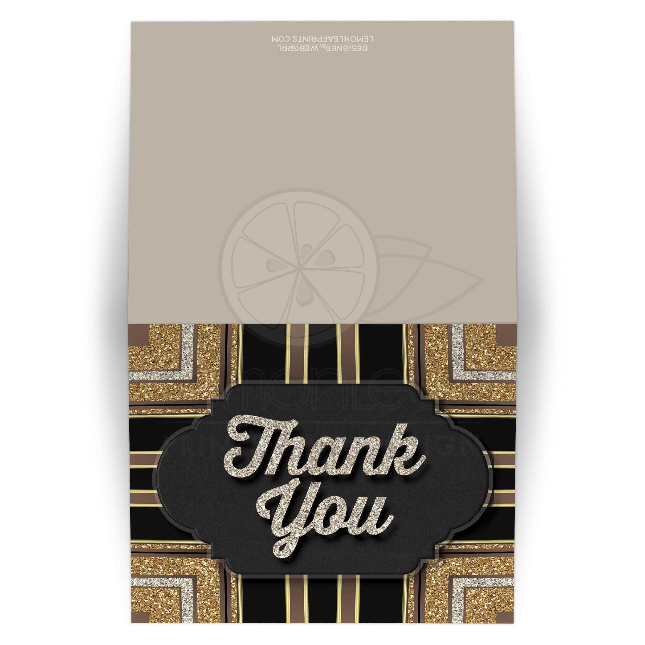 stylin art deco chalkboard thank you card