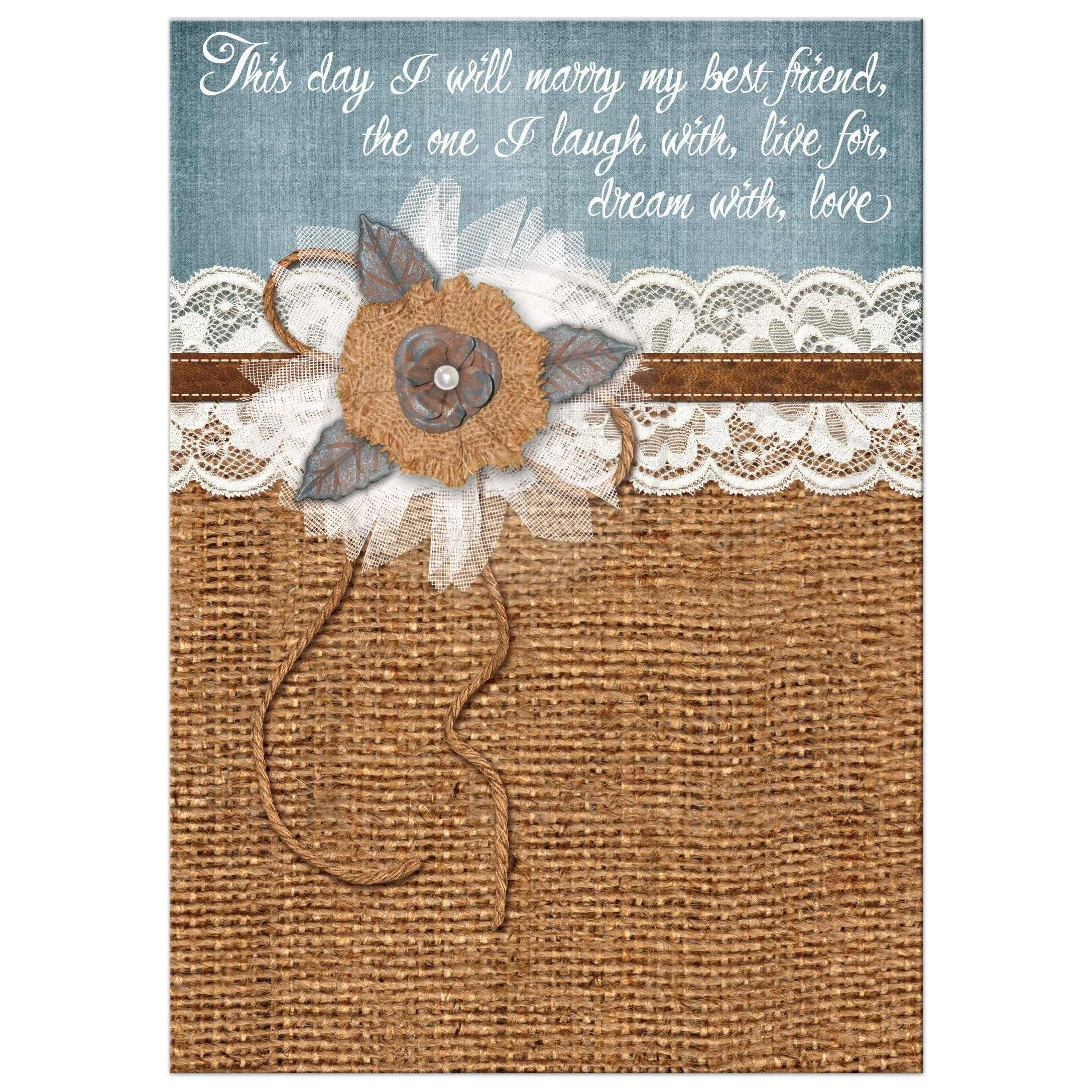 Wedding Invitations With Lace: Great Country Wedding Invitation