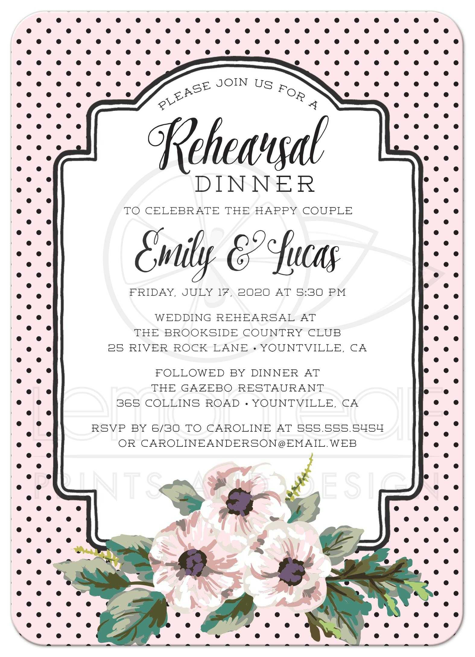 Rehearsal Dinner Menu Ideas | Examples and Forms