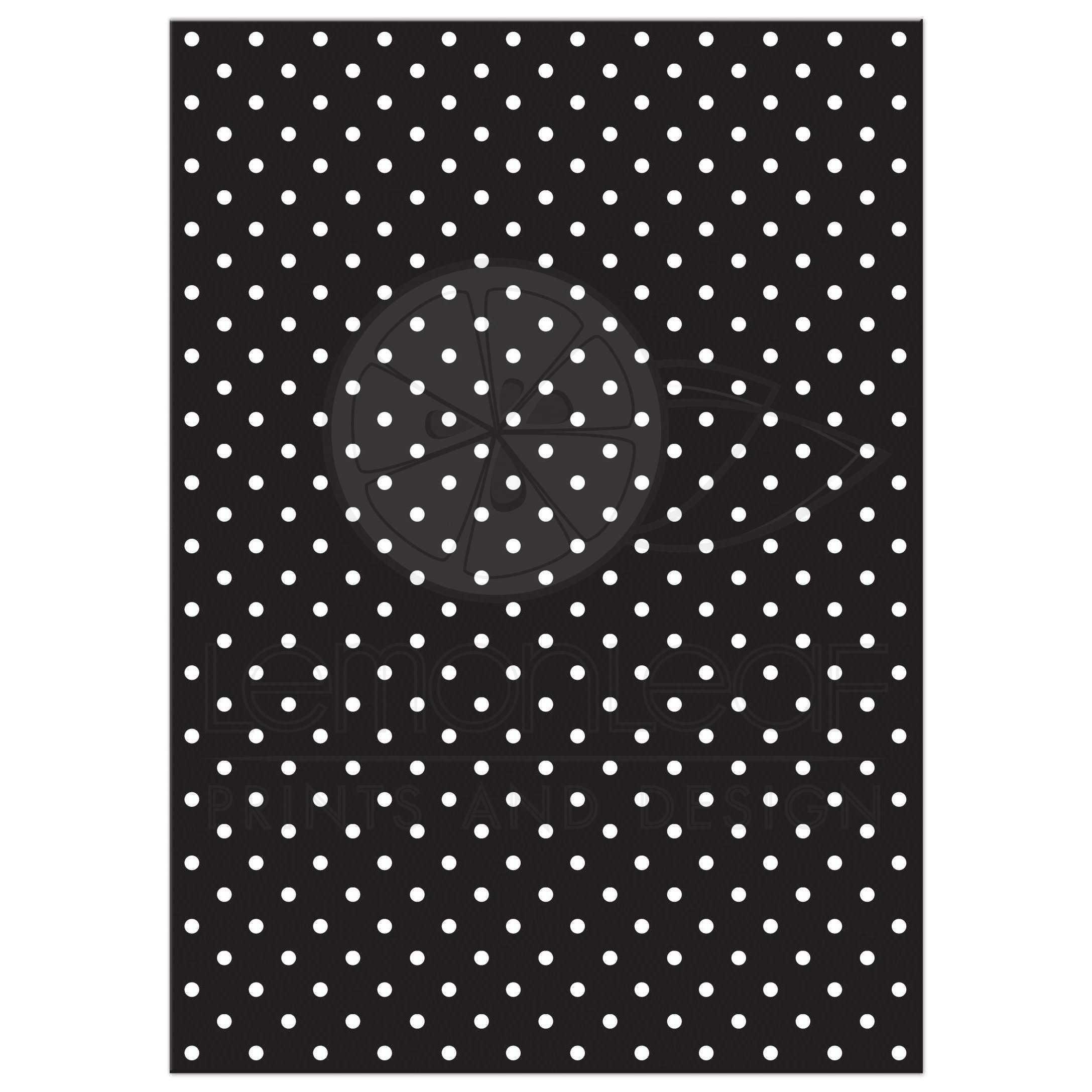 Super Wedding Invitation Retro 50s Black White Polka Dot GF65