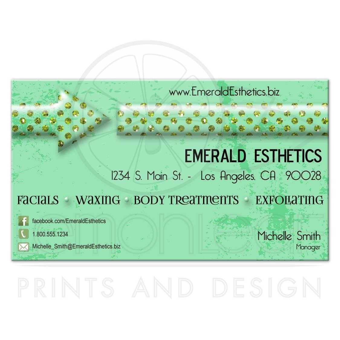 Funky emerald gems versatile business card emerald gems business card reheart Gallery