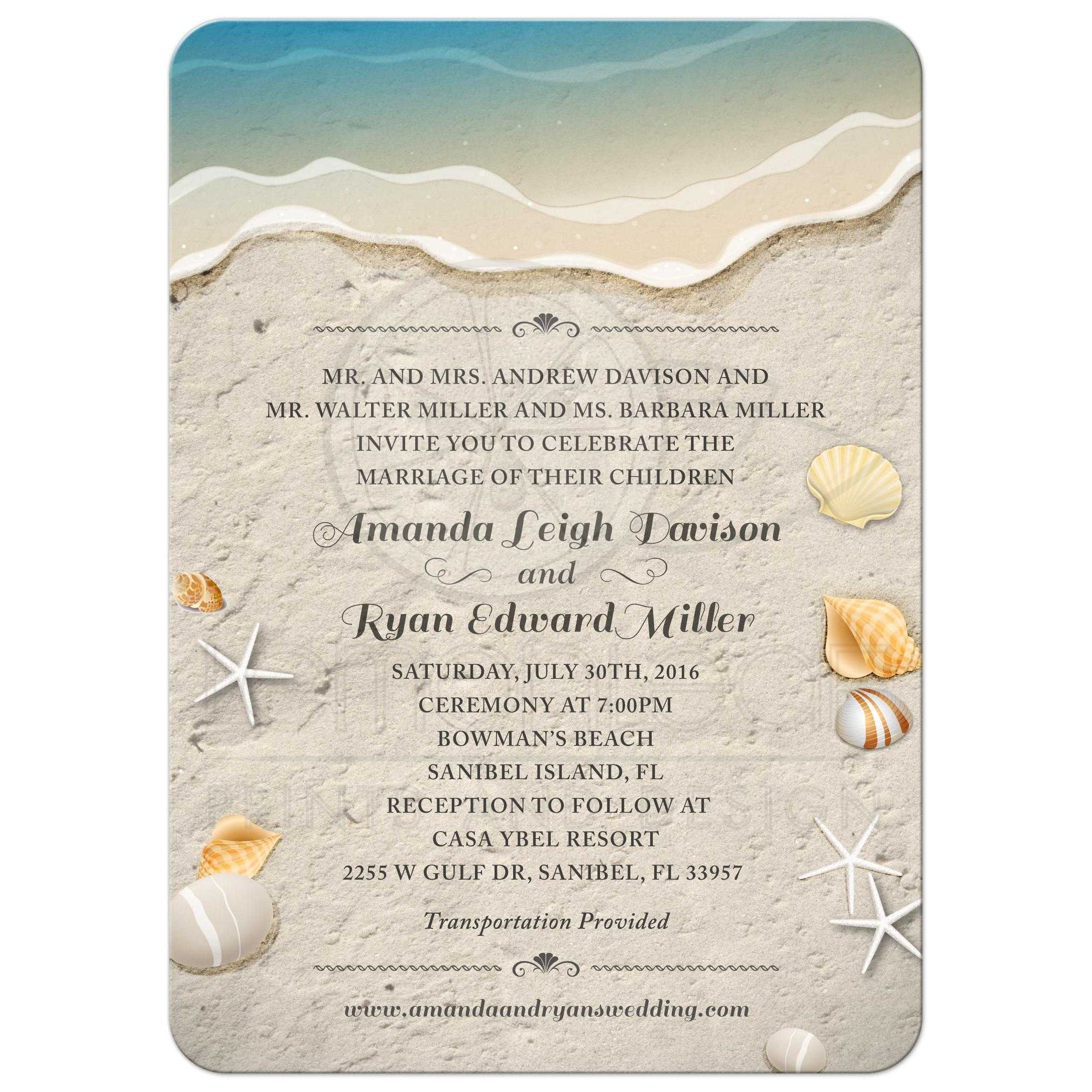 Beach Theme Card Stock: Waters Edge Seashells And Sand