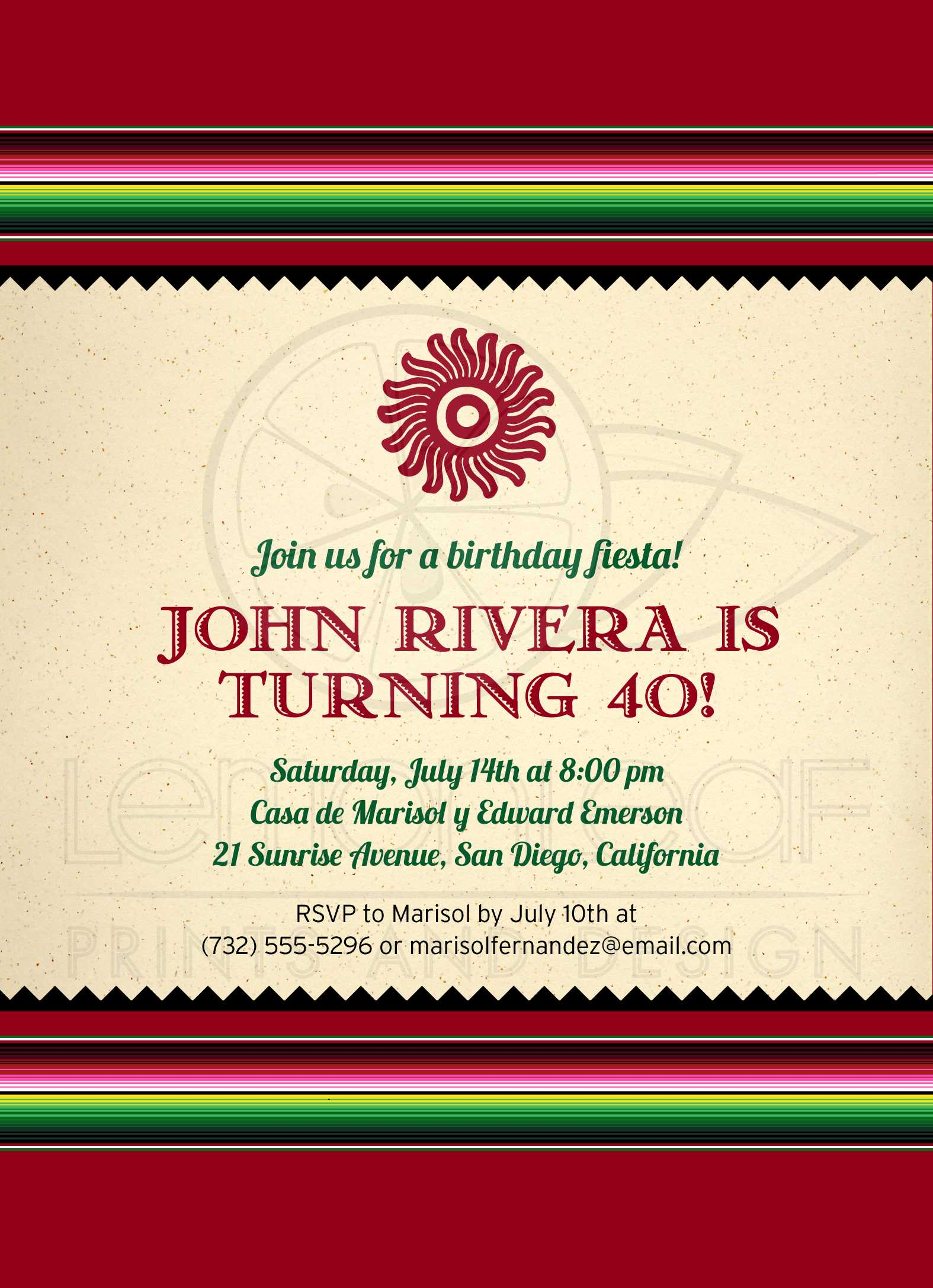 Funky Fiesta Birthday Invitations Collection - Invitations and ...