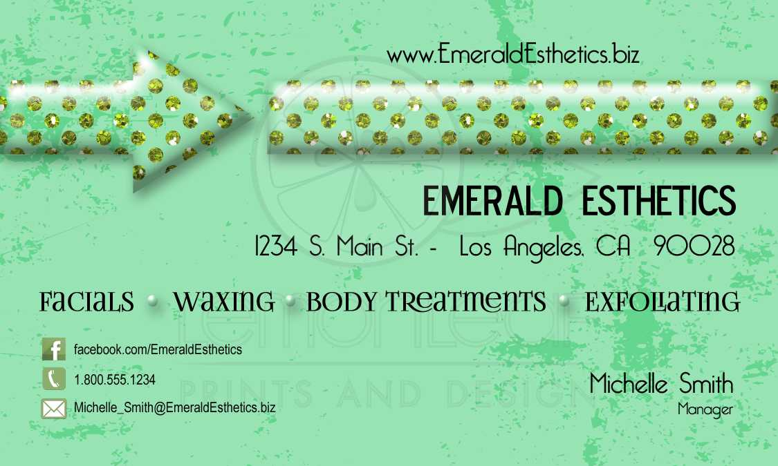 Funky emerald gems versatile business card reheart Gallery