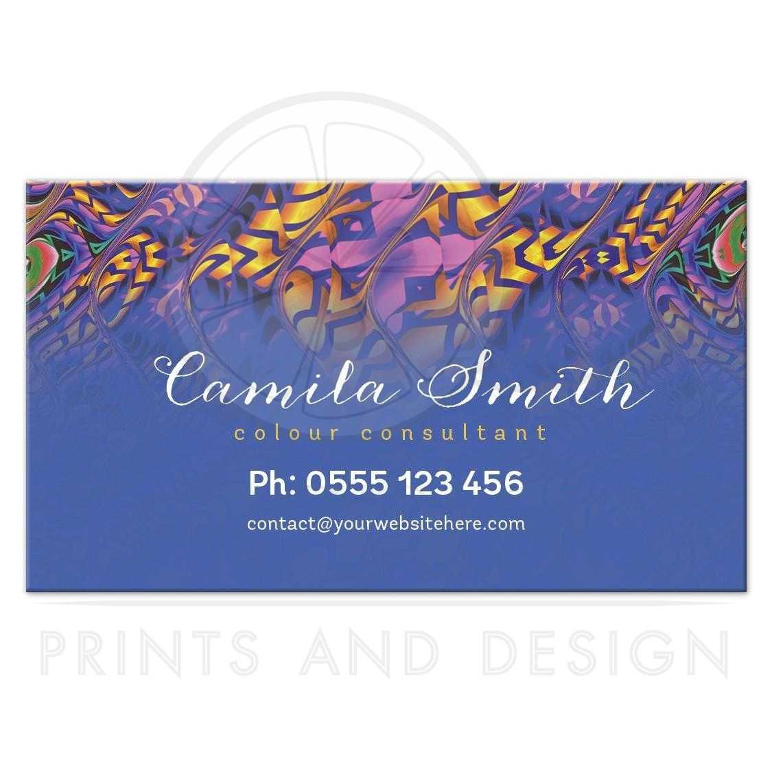 Tropical color consultant business cards colourmoves