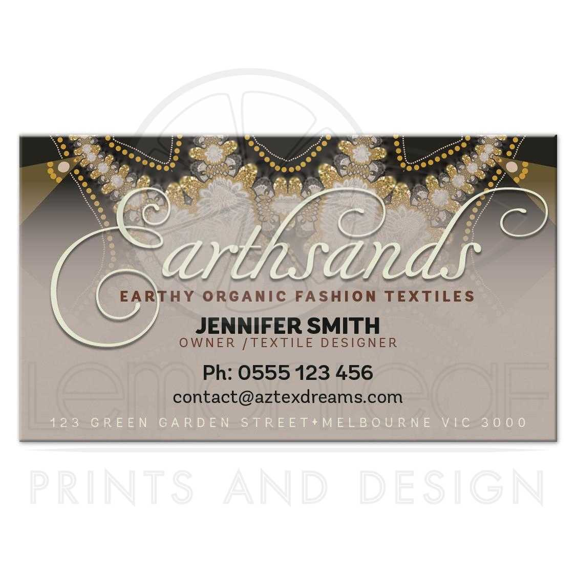 Earth Sands Bohemian Chic Business Cards
