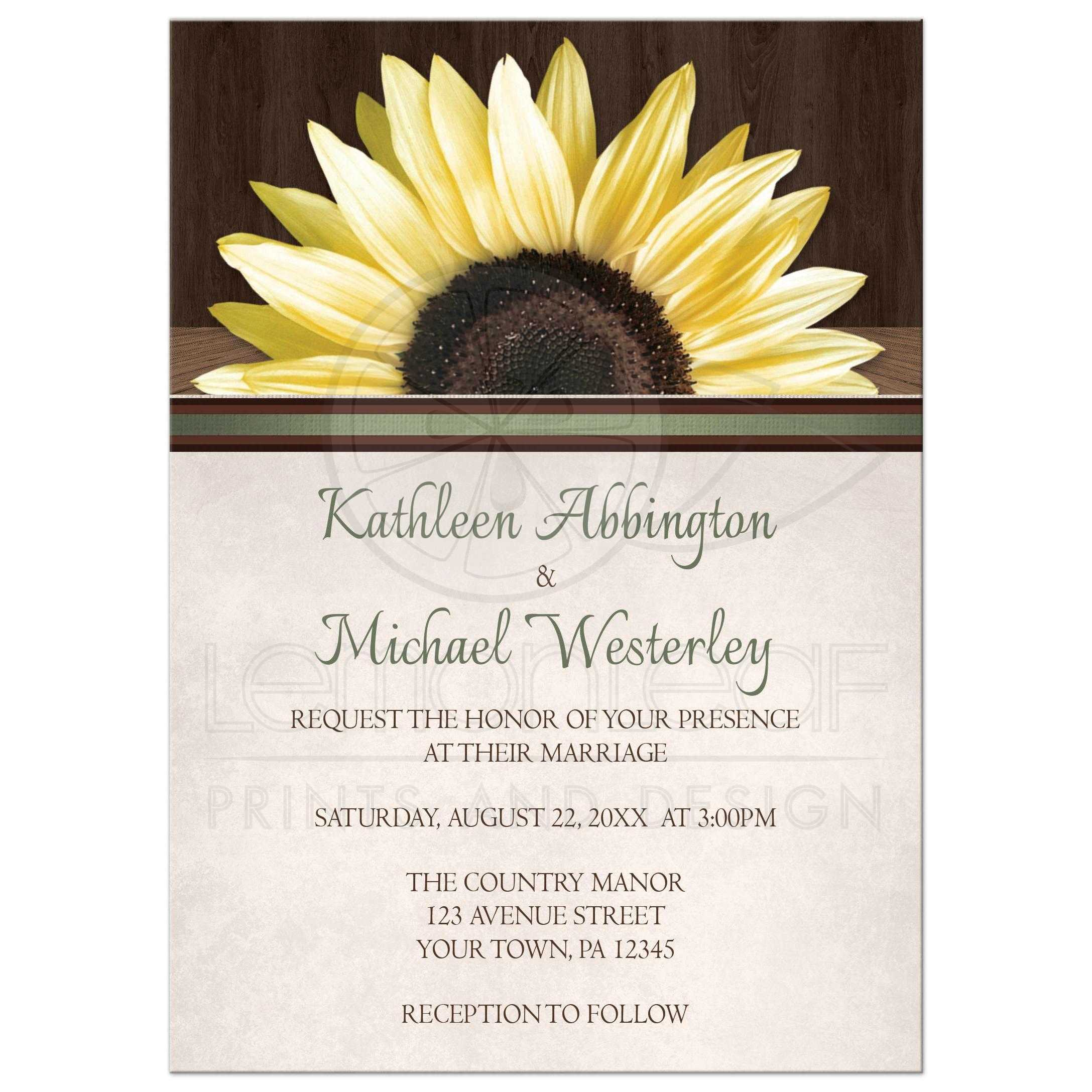 Country Sunflower Over Wood Rustic