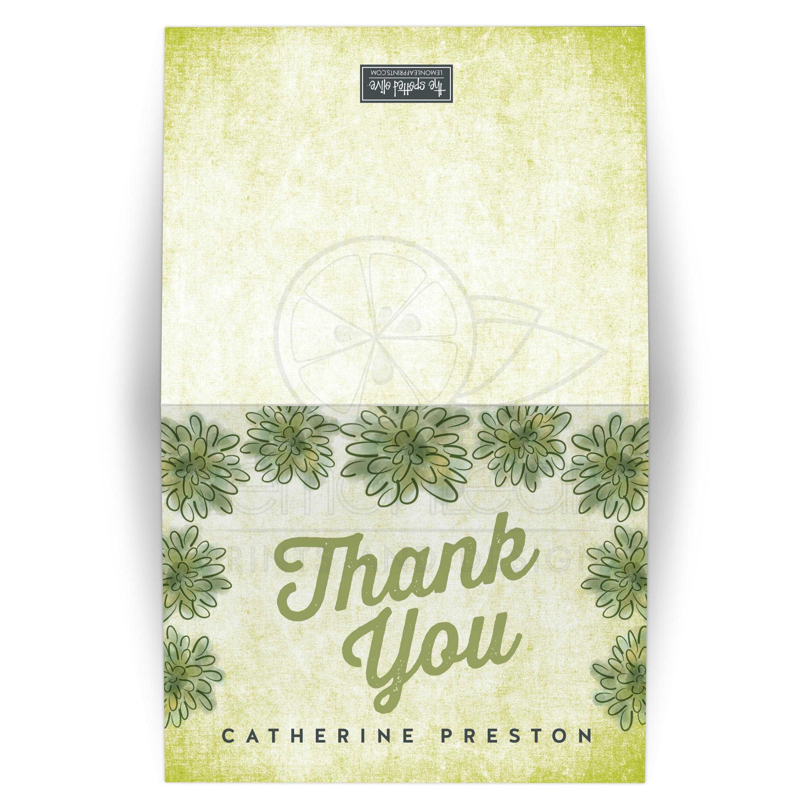 watercolor succulents thank you cards - Personalized Thank You Cards