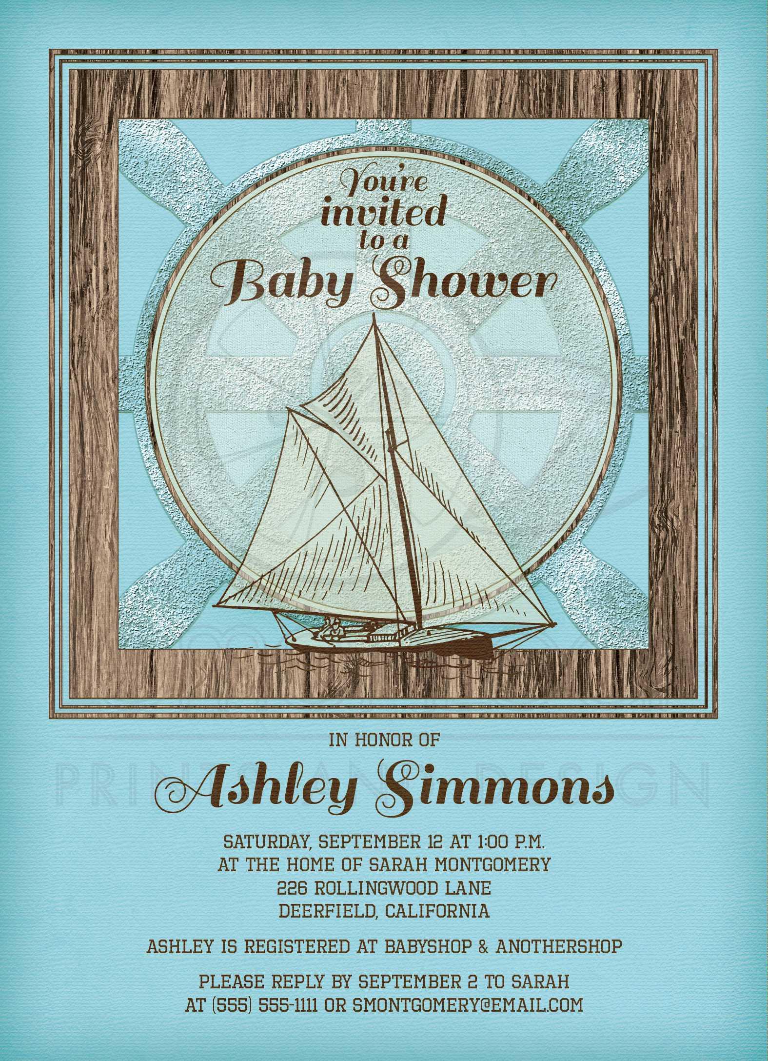 Nautical Themed Baby Shower Invitations – gangcraft.net