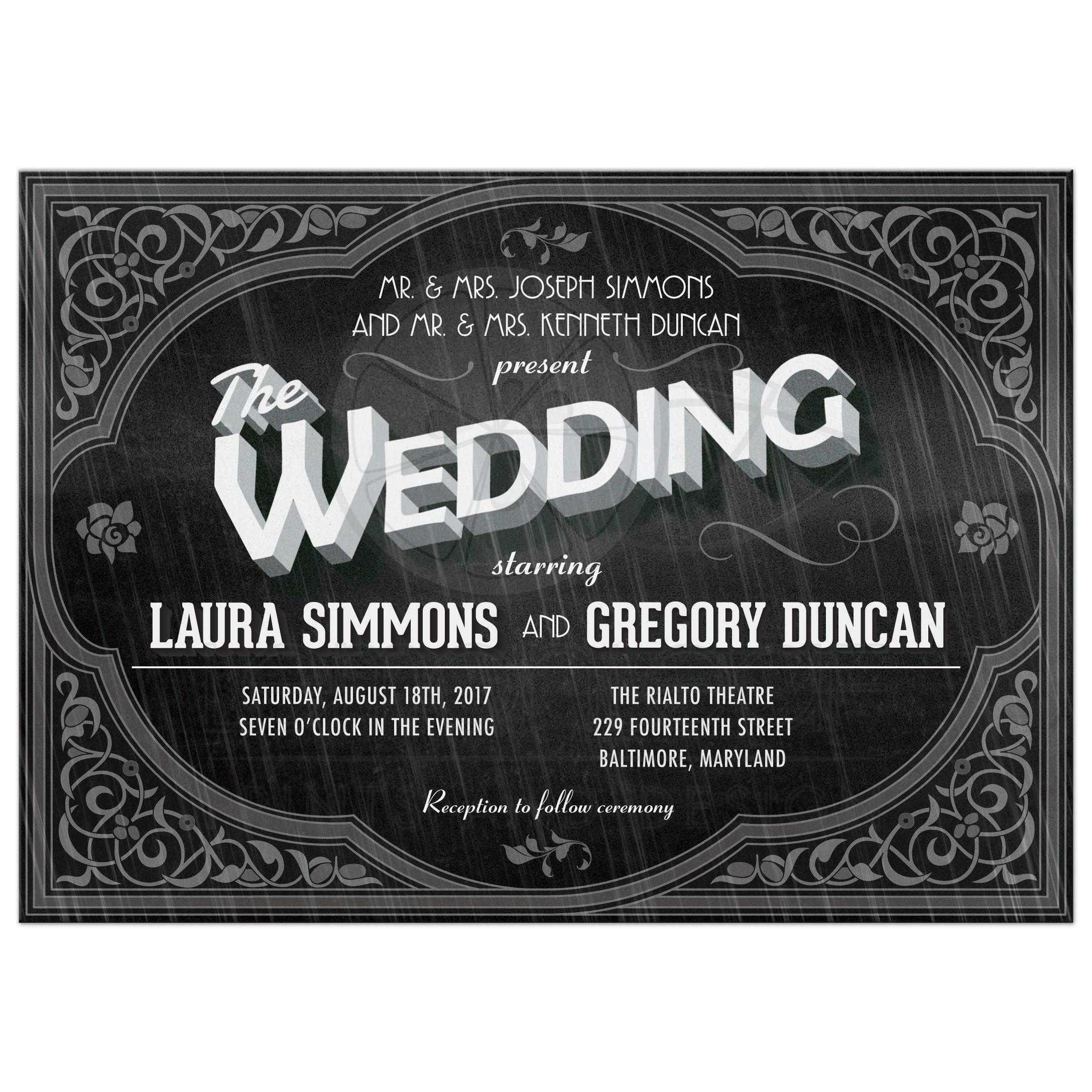 wedding invitation title 28 images flourish title signature