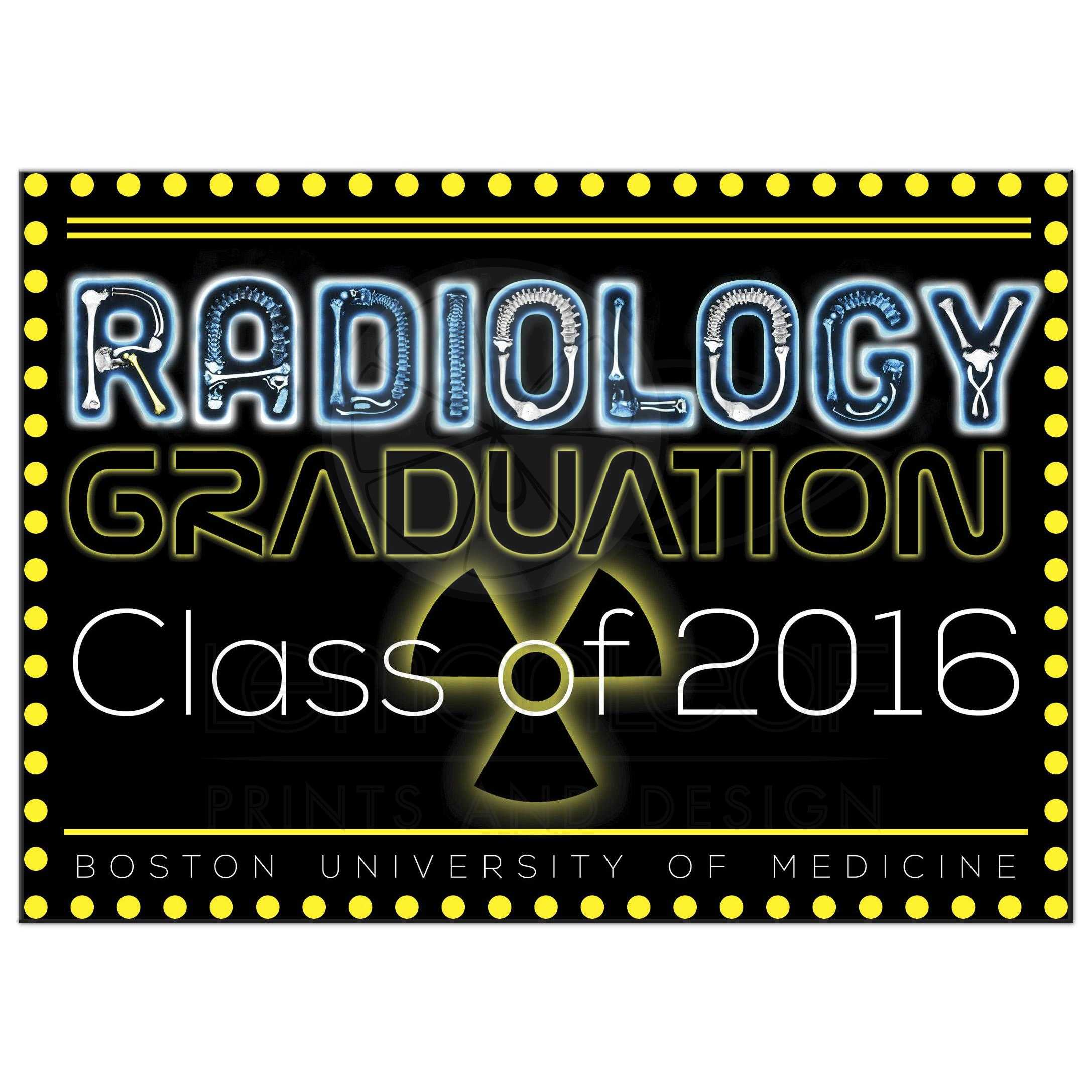 Radiology Tech Graduation Invitation